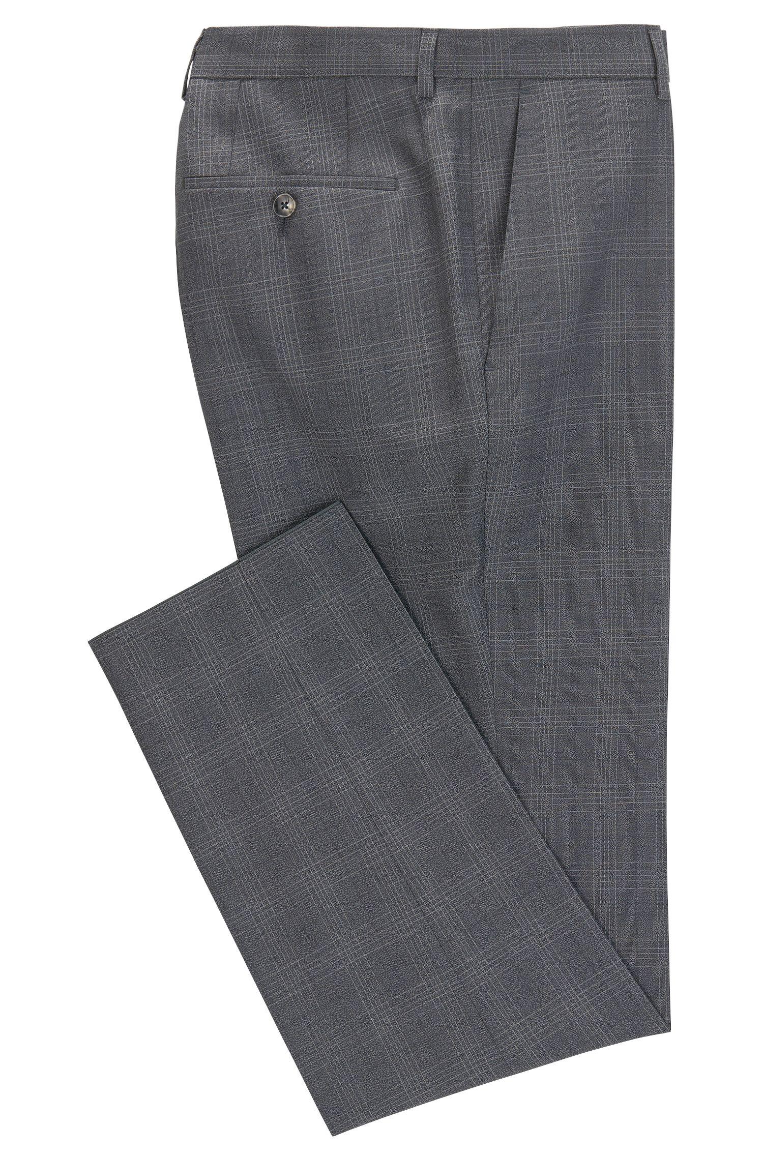 Glen Check Virgin Wool Dress Pant, Slim Fit | Genesis