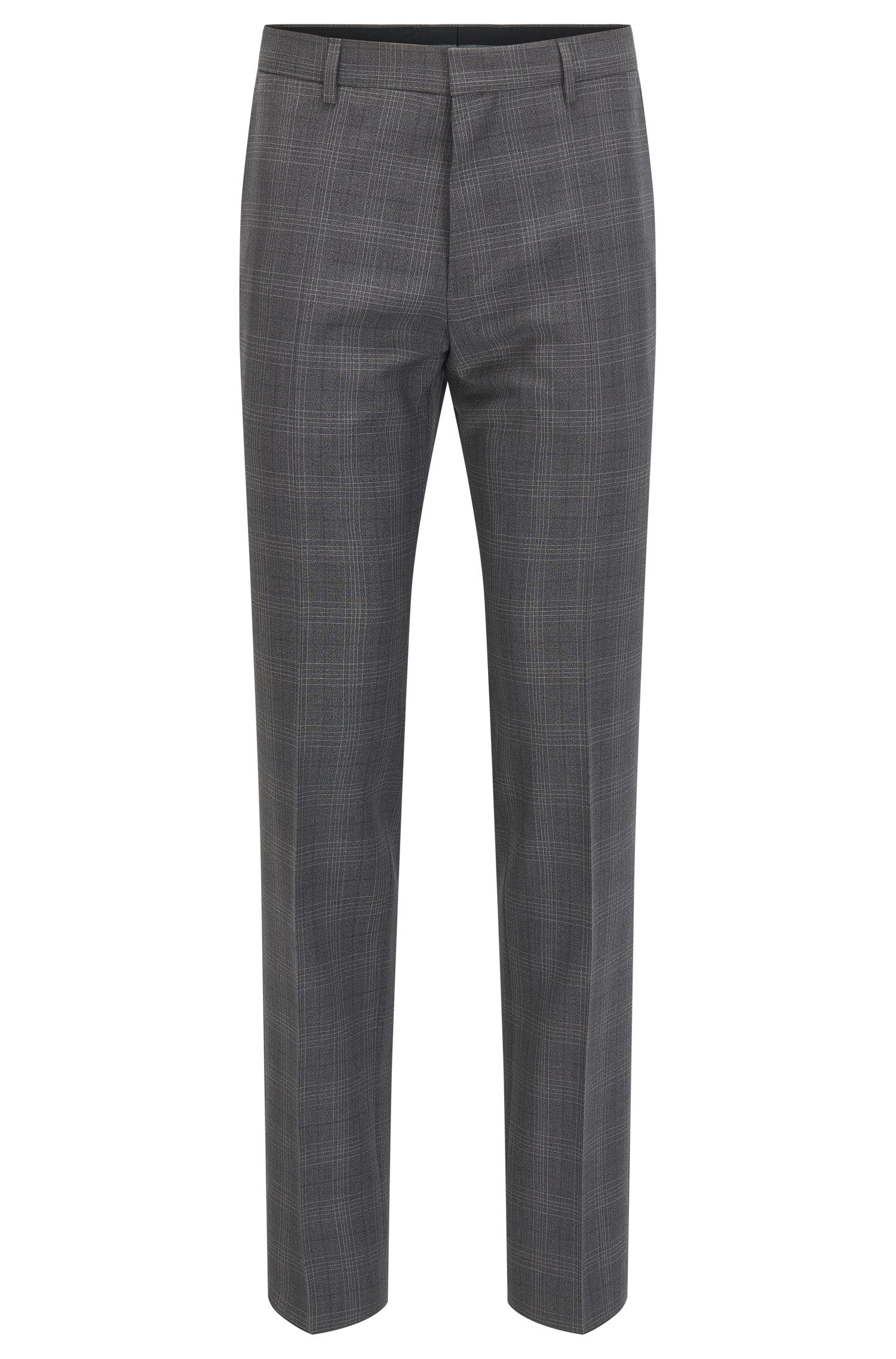'Genesis' | Slim Fit, Glen Check Virgin Wool Dress Pants