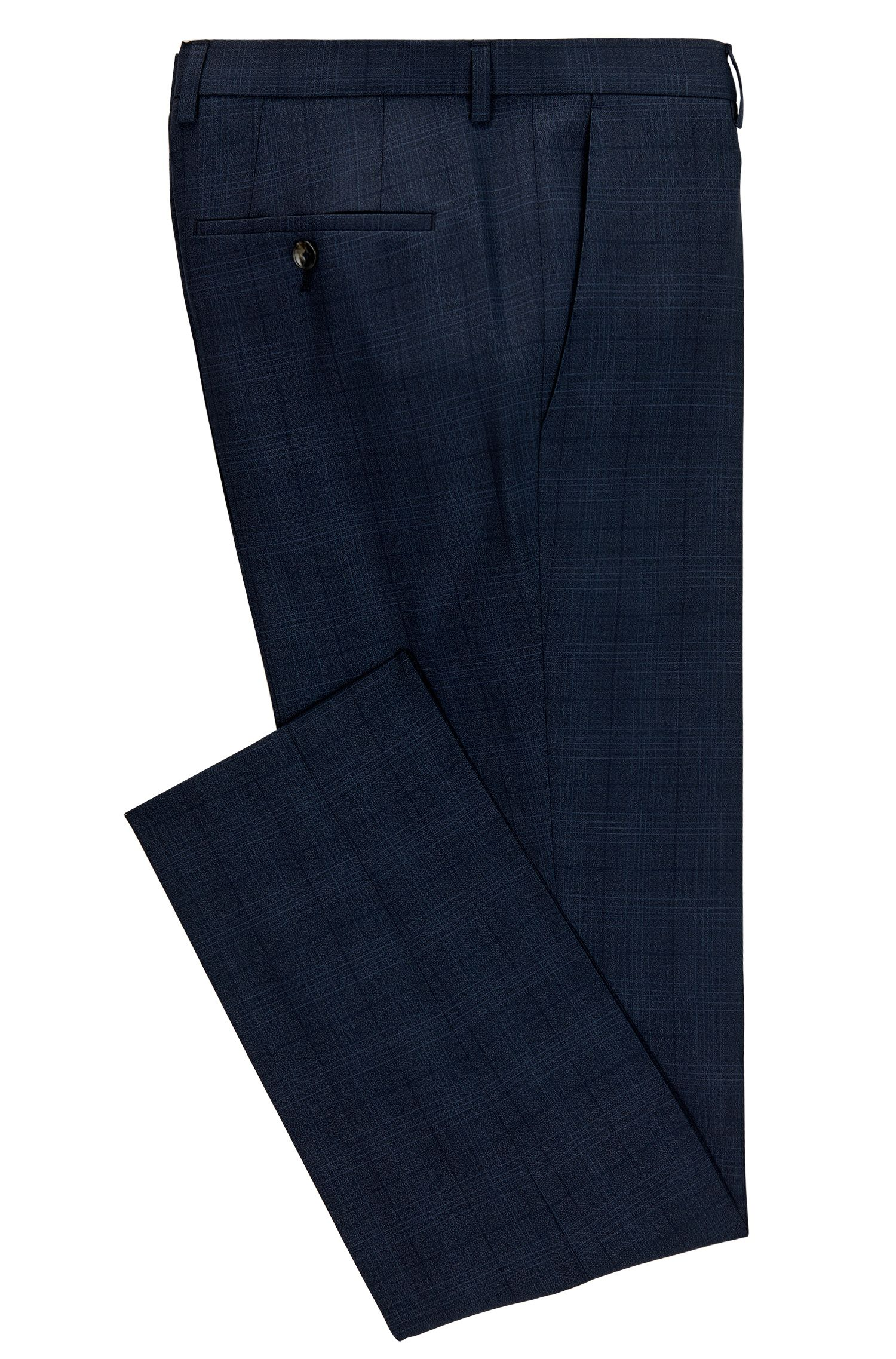 Glen Check Virgin Wool Dress Pant, Slim Fit   Genesis