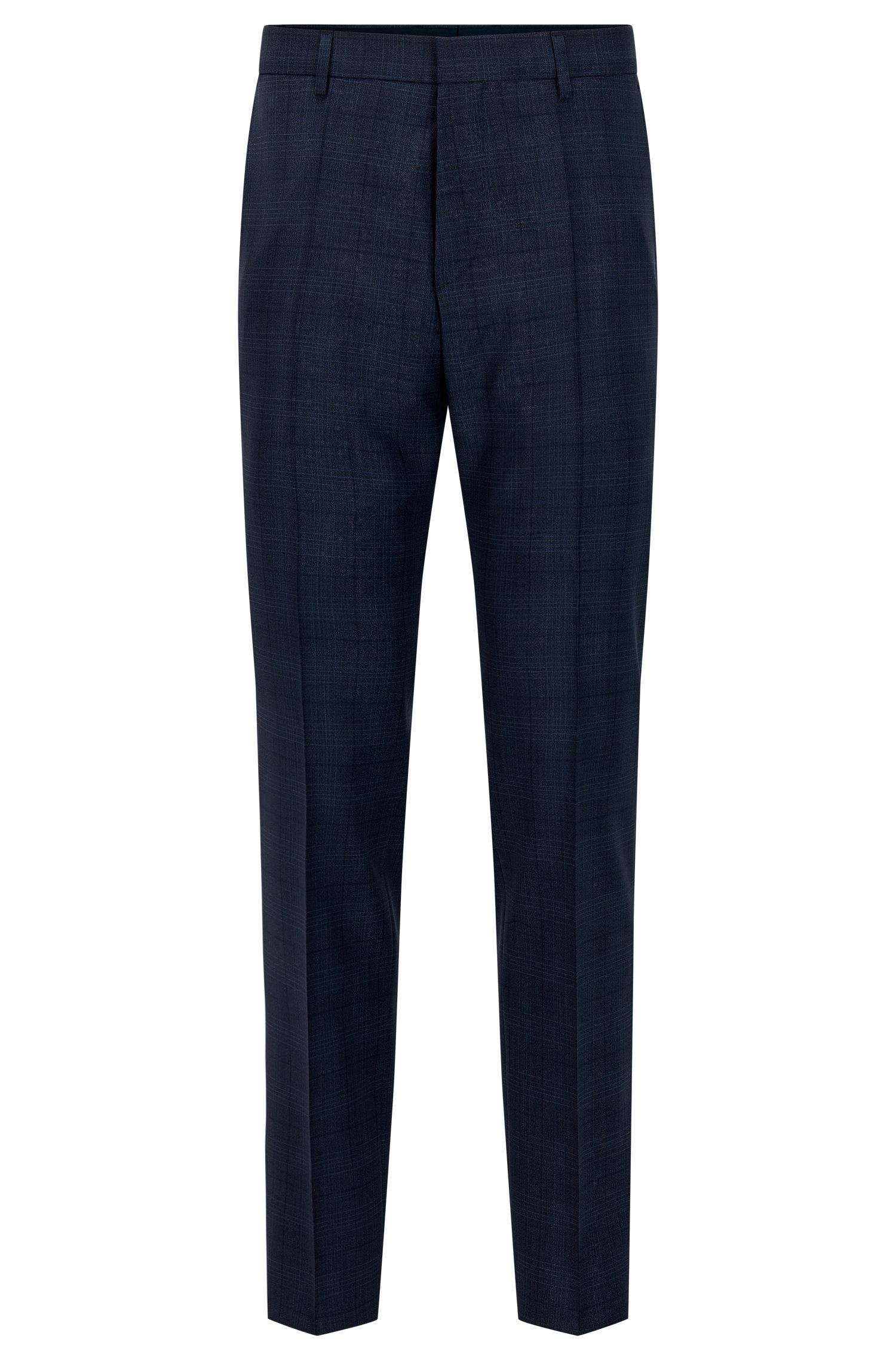 Glen Check Virgin Wool Dress Pant, Slim Fit | Genesis