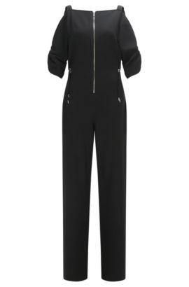 Crepe Drawstring Jumpsuit | FS Dalina C, Black