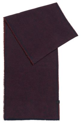 'North' | Cotton Scarf, Open Red