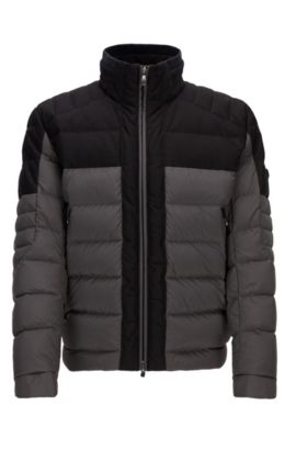 Nylon Quilted Jacket | Jonkins, Grey