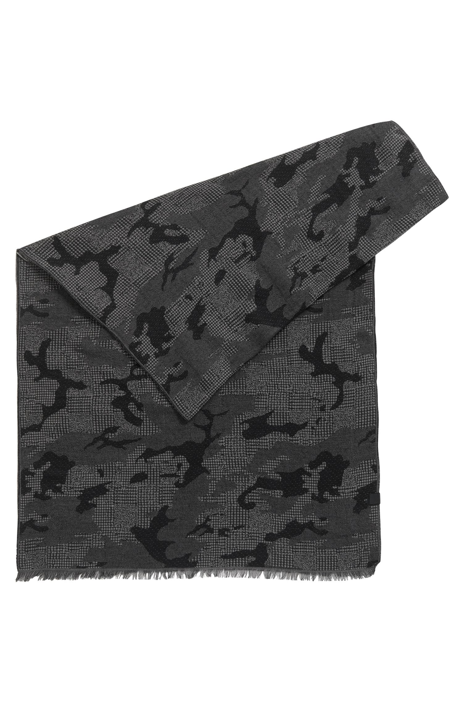 Camouflage Cotton Jacquard Scarf | Net