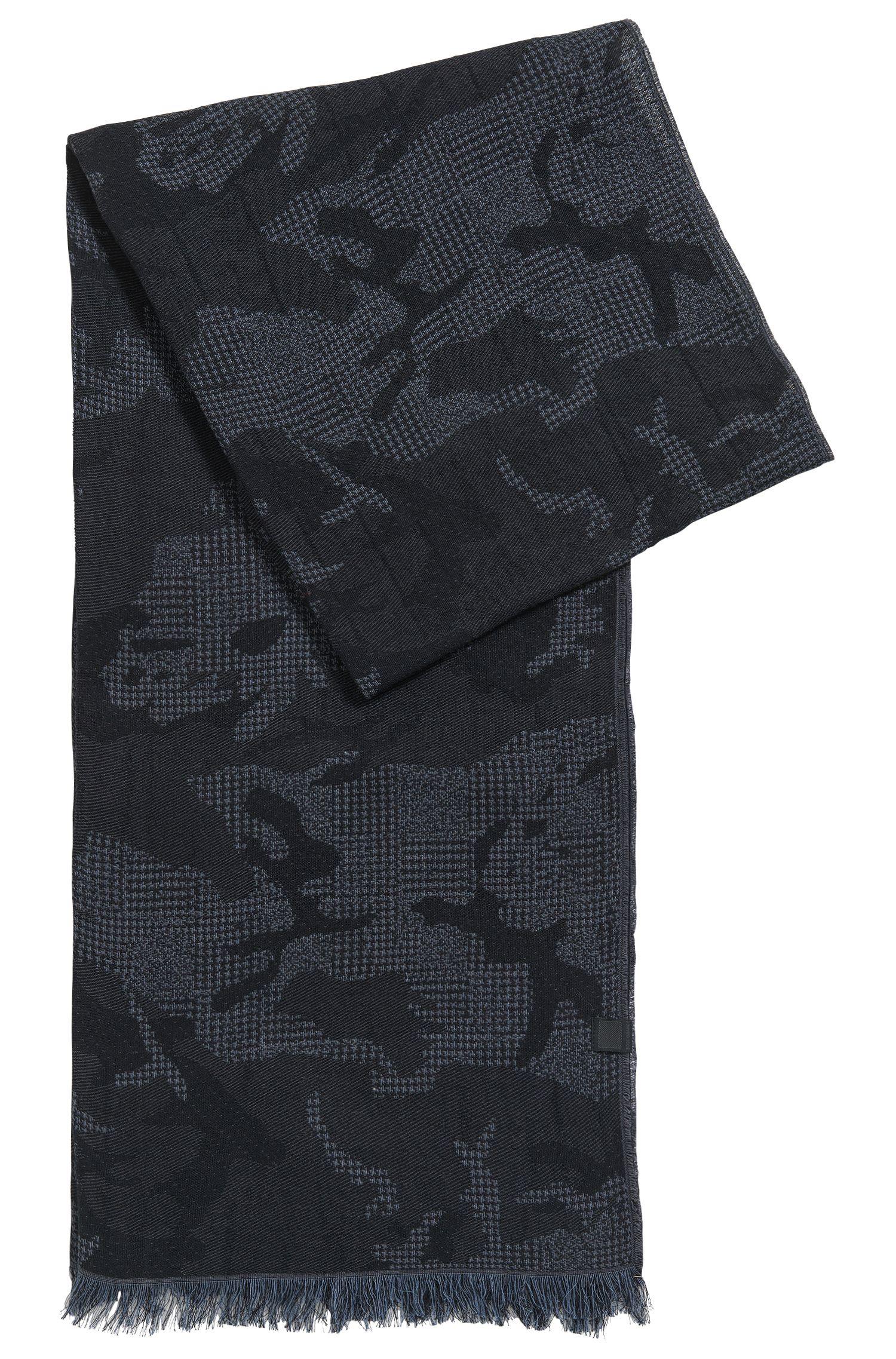 Camouflage Cotton Jacquard Scarf | Net