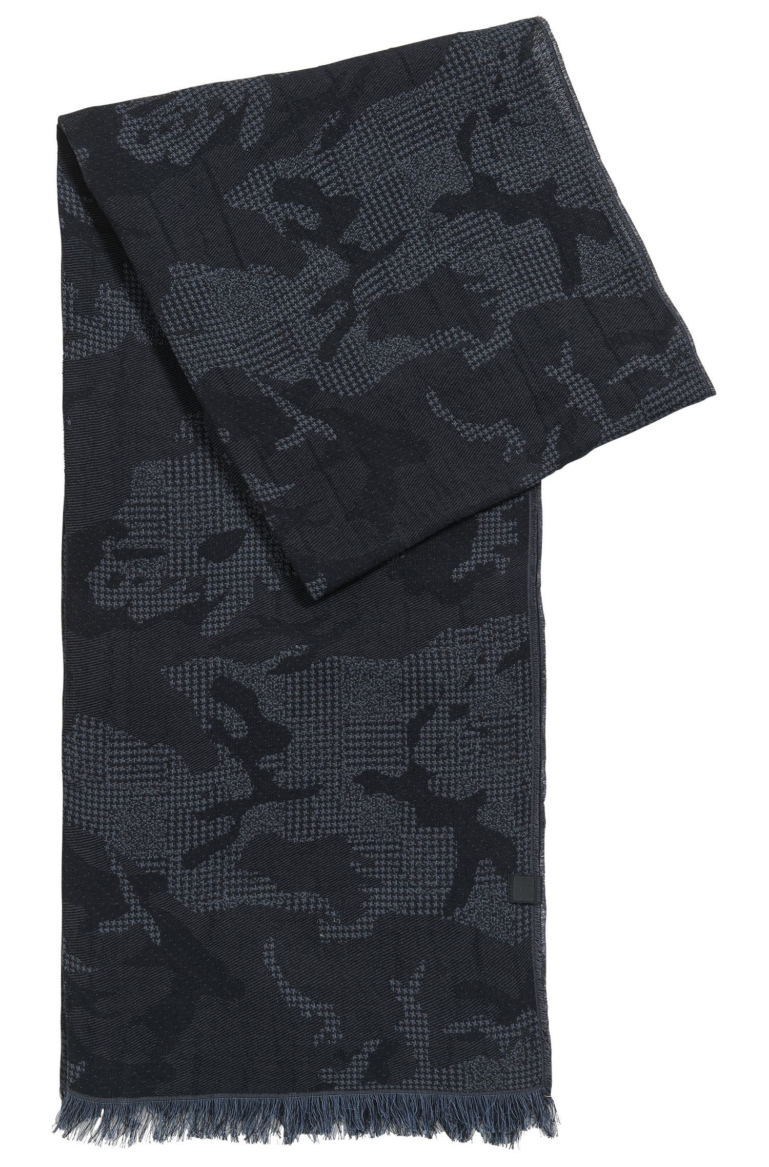 Camouflage Cotton Jacquard Scarf   Net