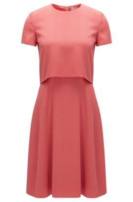 'Dicenda' | Cropped Crepe Dress, Light Red