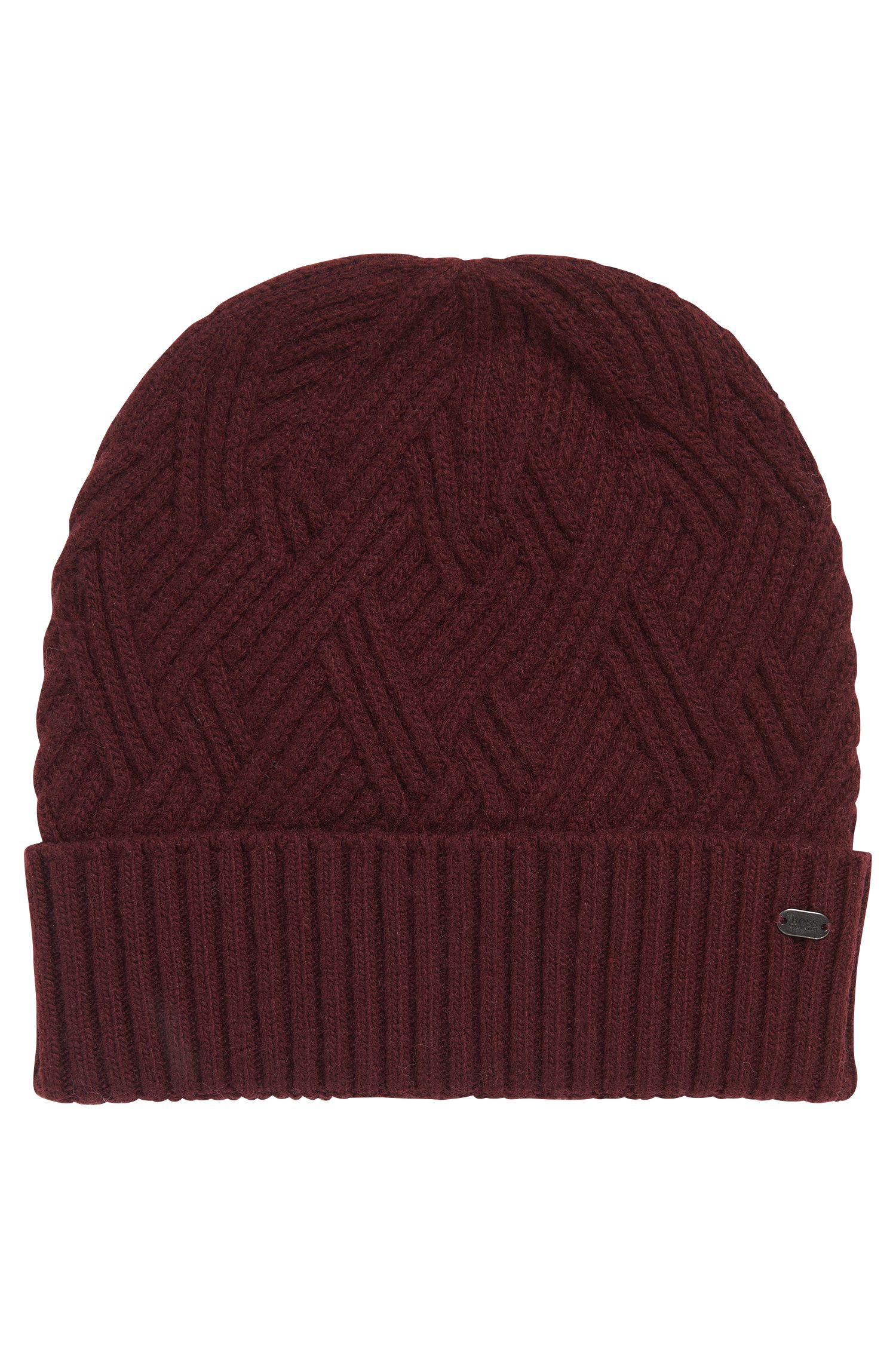 'Beanie Cableknit' | Wool Blend Cable Knit Beanie