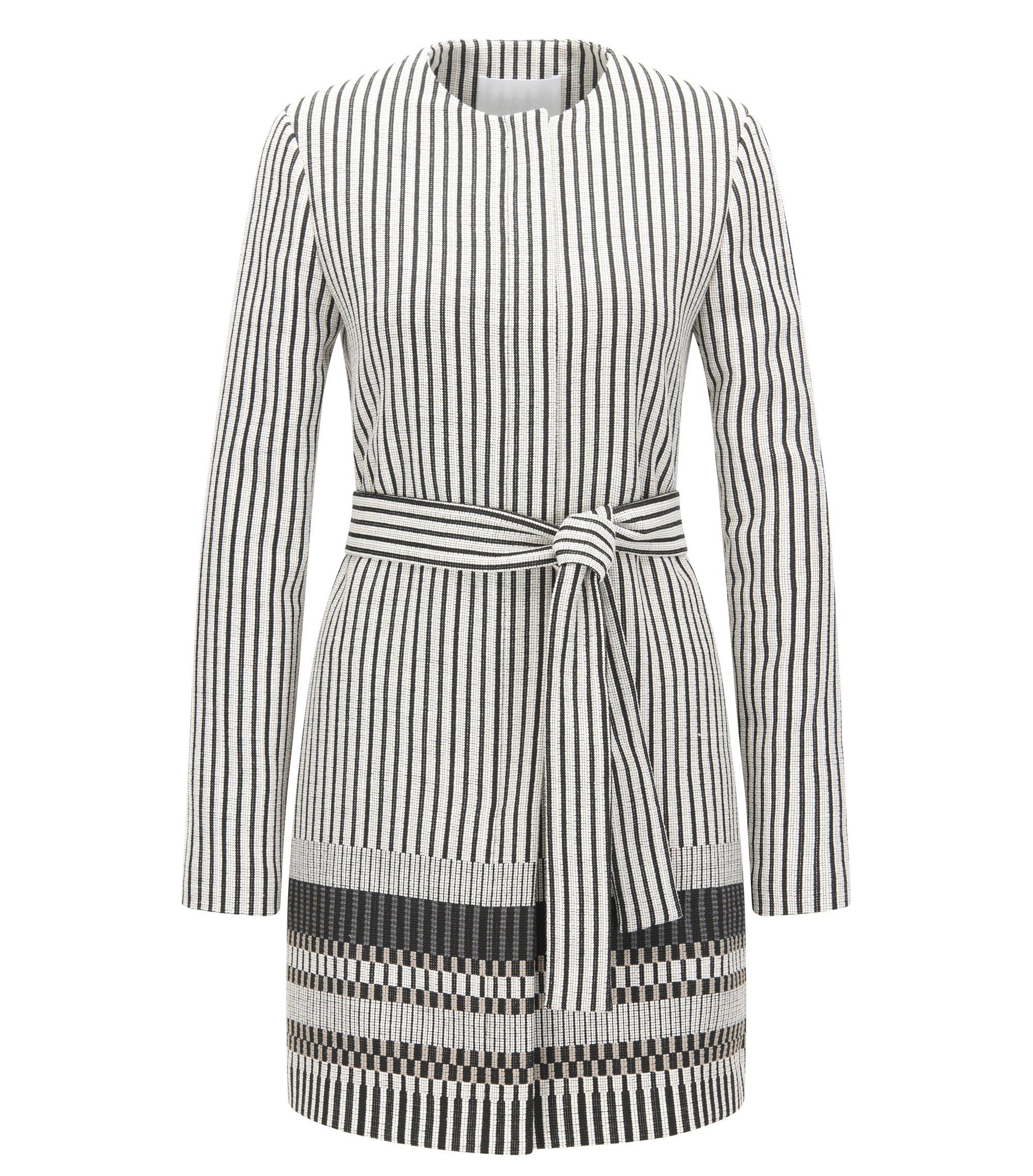Cotton Blend Striped Coat | Cemala, Patterned
