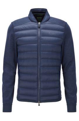 'Jalmstad Pro' | Nylon Puffer Bomber Jacket, Dark Blue