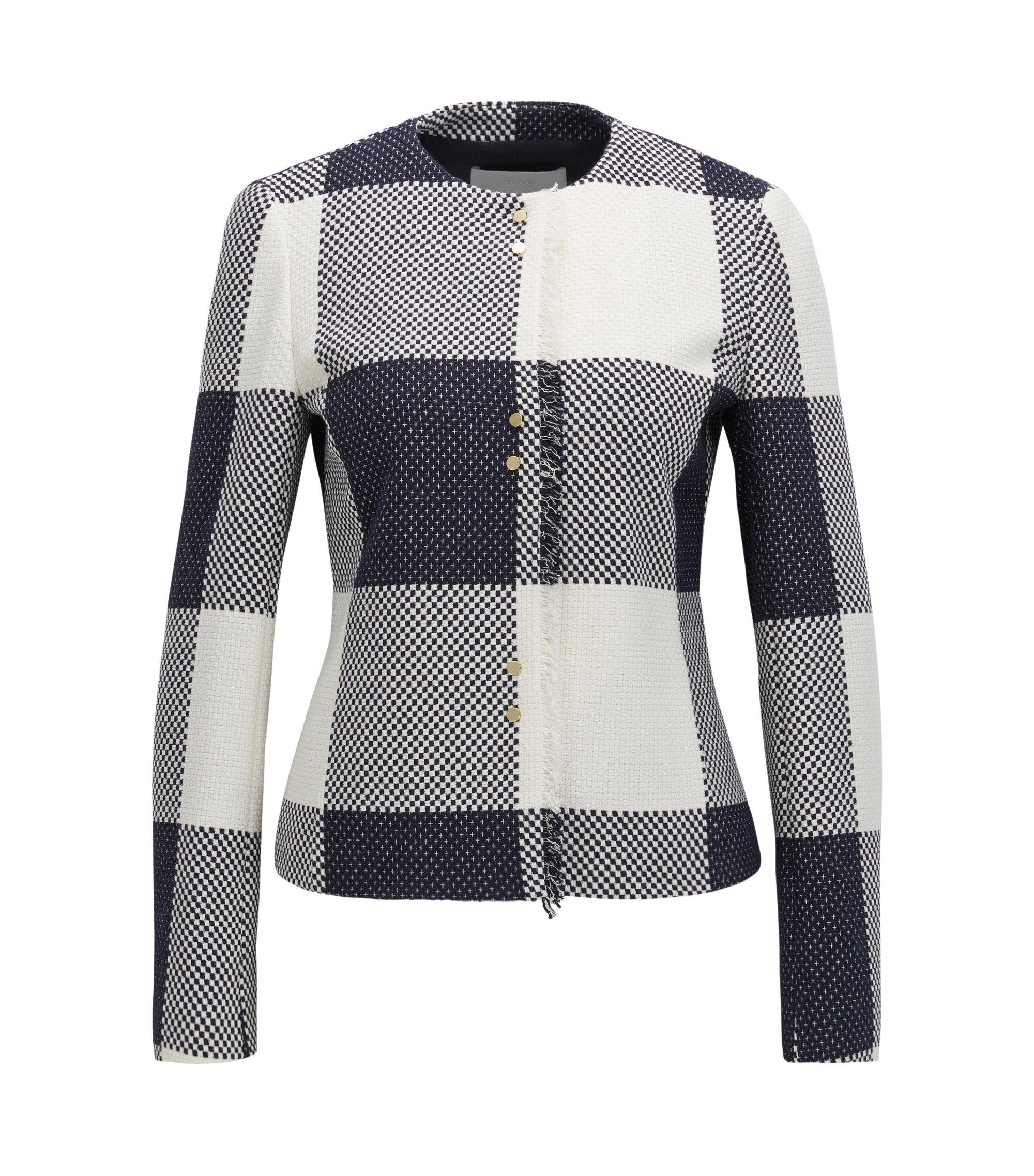 Gingham Cotton Jacket | Karolie, Patterned