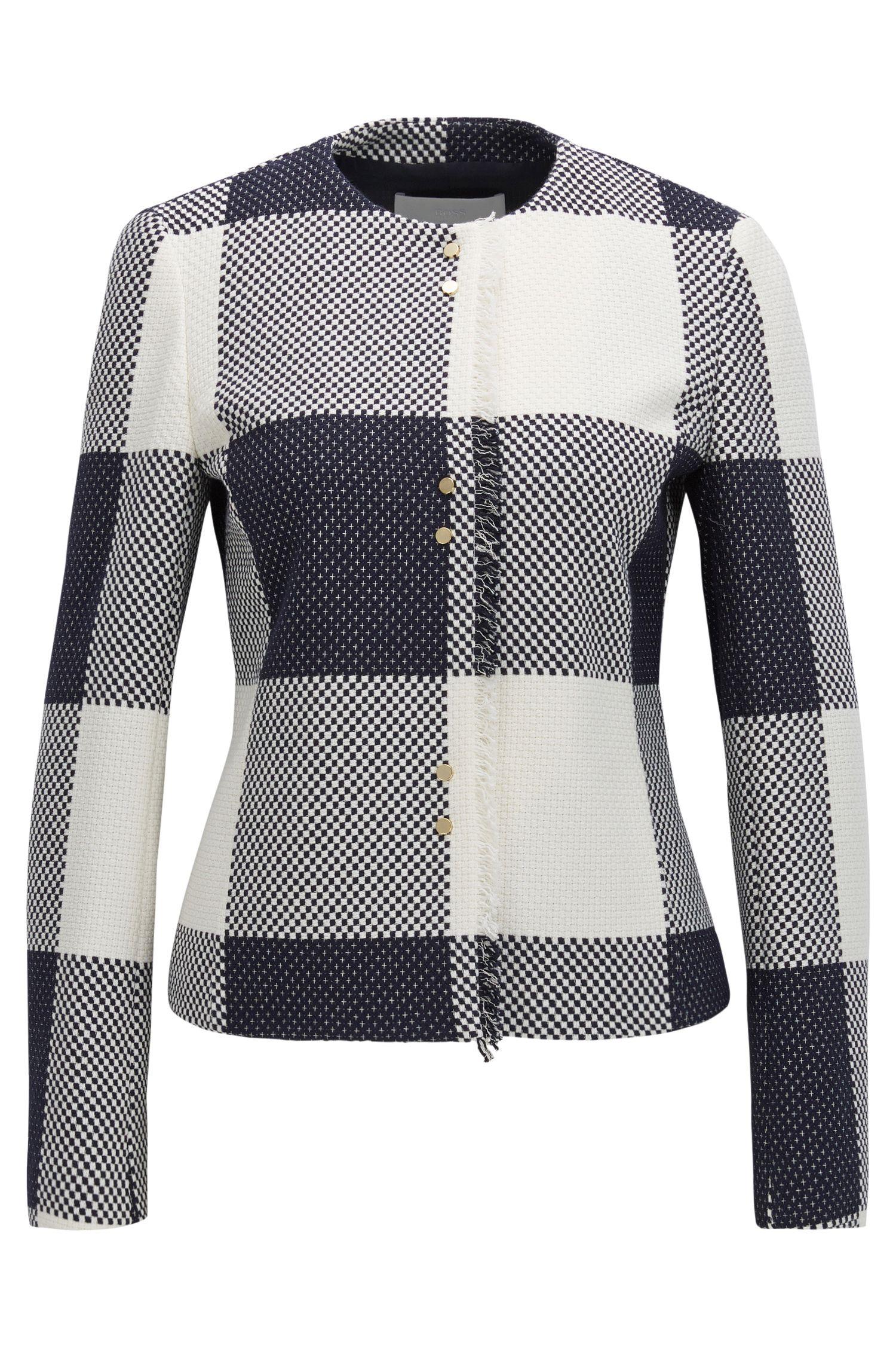 Gingham Cotton Jacket | Karolie