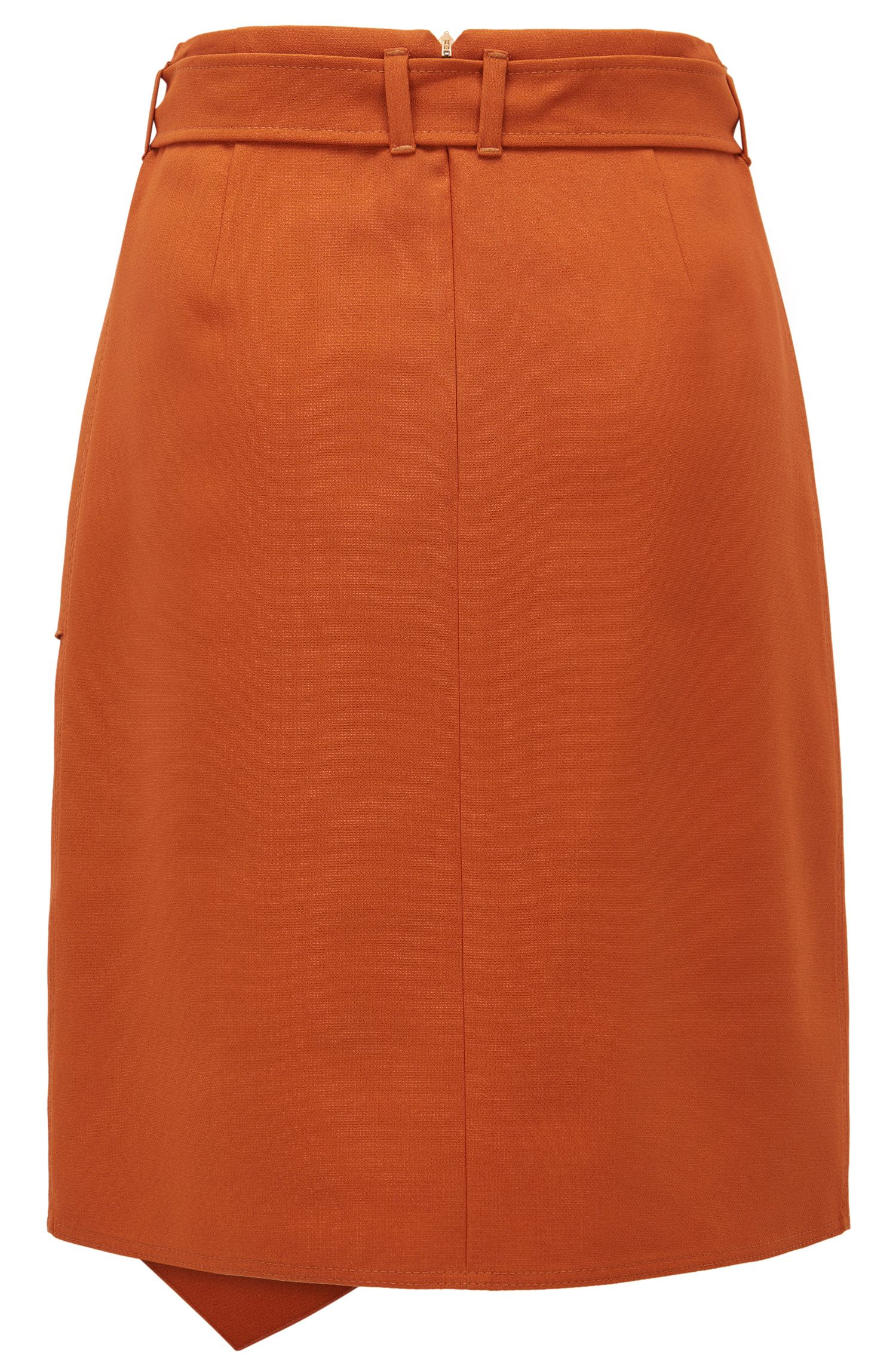Ruffled Viscose Blend Skirt | Mavea