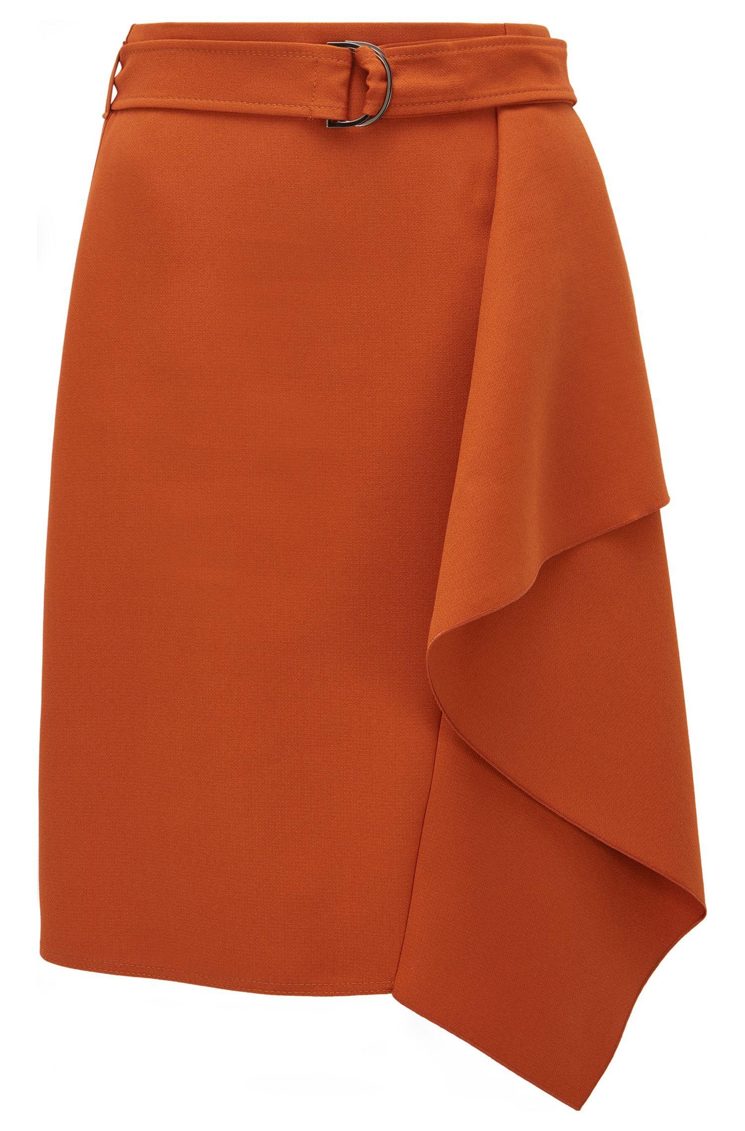 Ruffled Viscose Blend Skirt | Mavea
