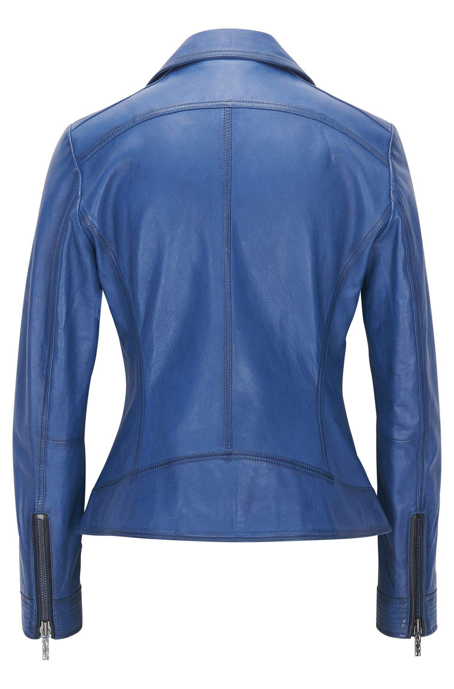 Sheepskin Leather Moto Jacket | Jamela
