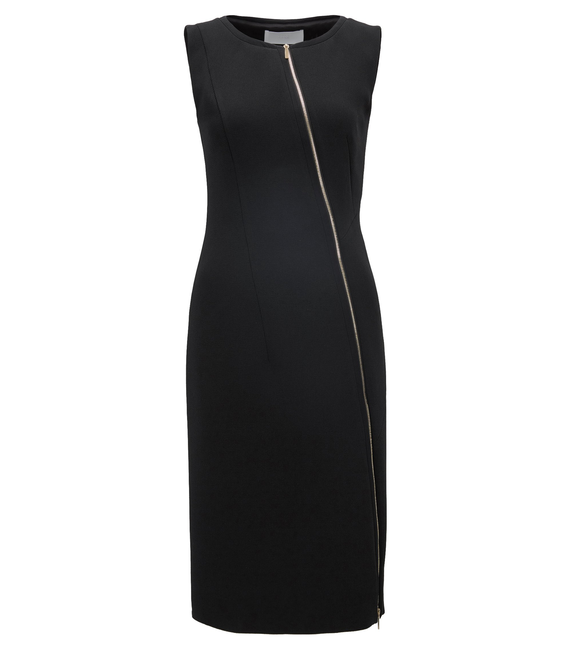 Stretch Sheath Dress | Danafea, Black