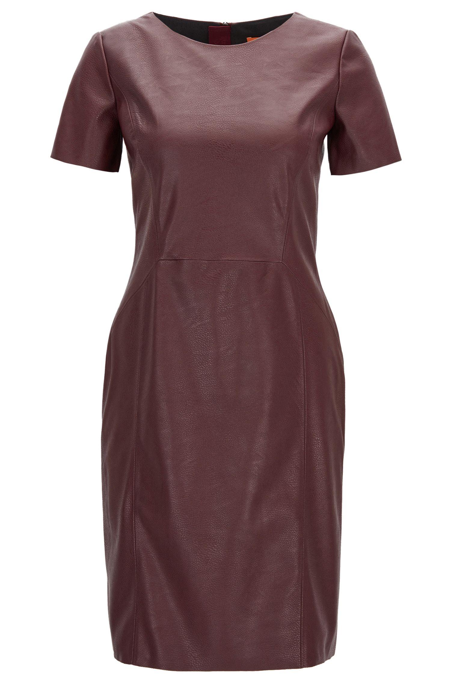 Faux Leather Sheath Dress | Aledy
