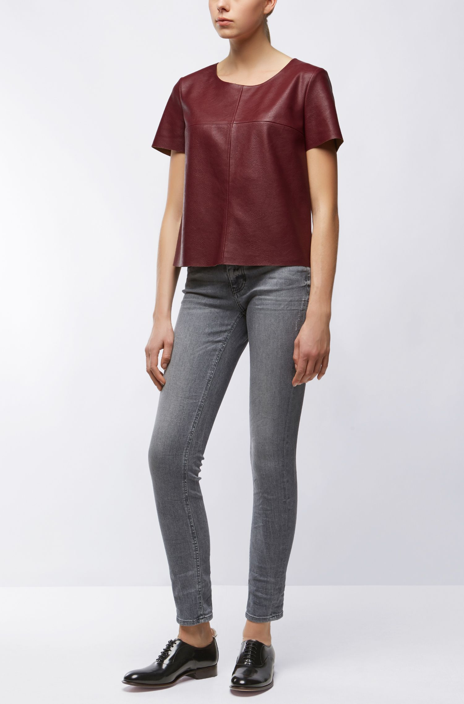Faux Leather Top | Kaledy
