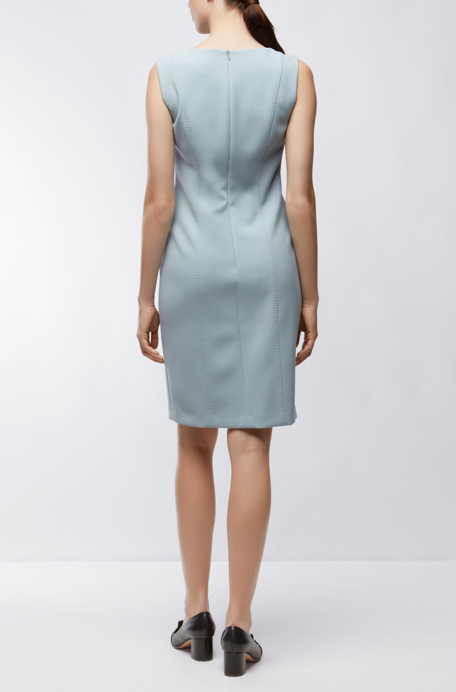 Crepe Shift Dress | Delafea