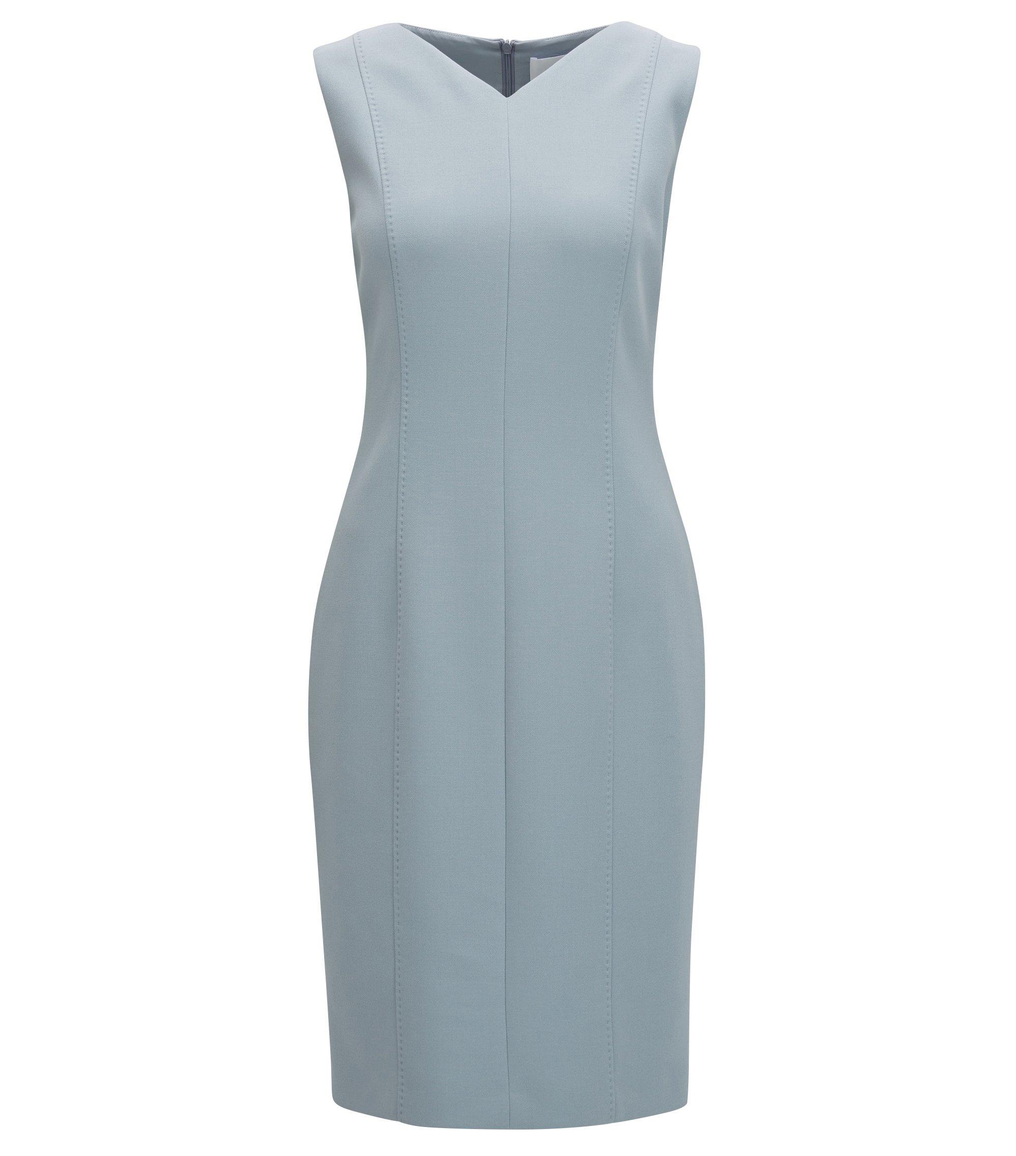 Crepe Shift Dress | Delafea, Open Grey