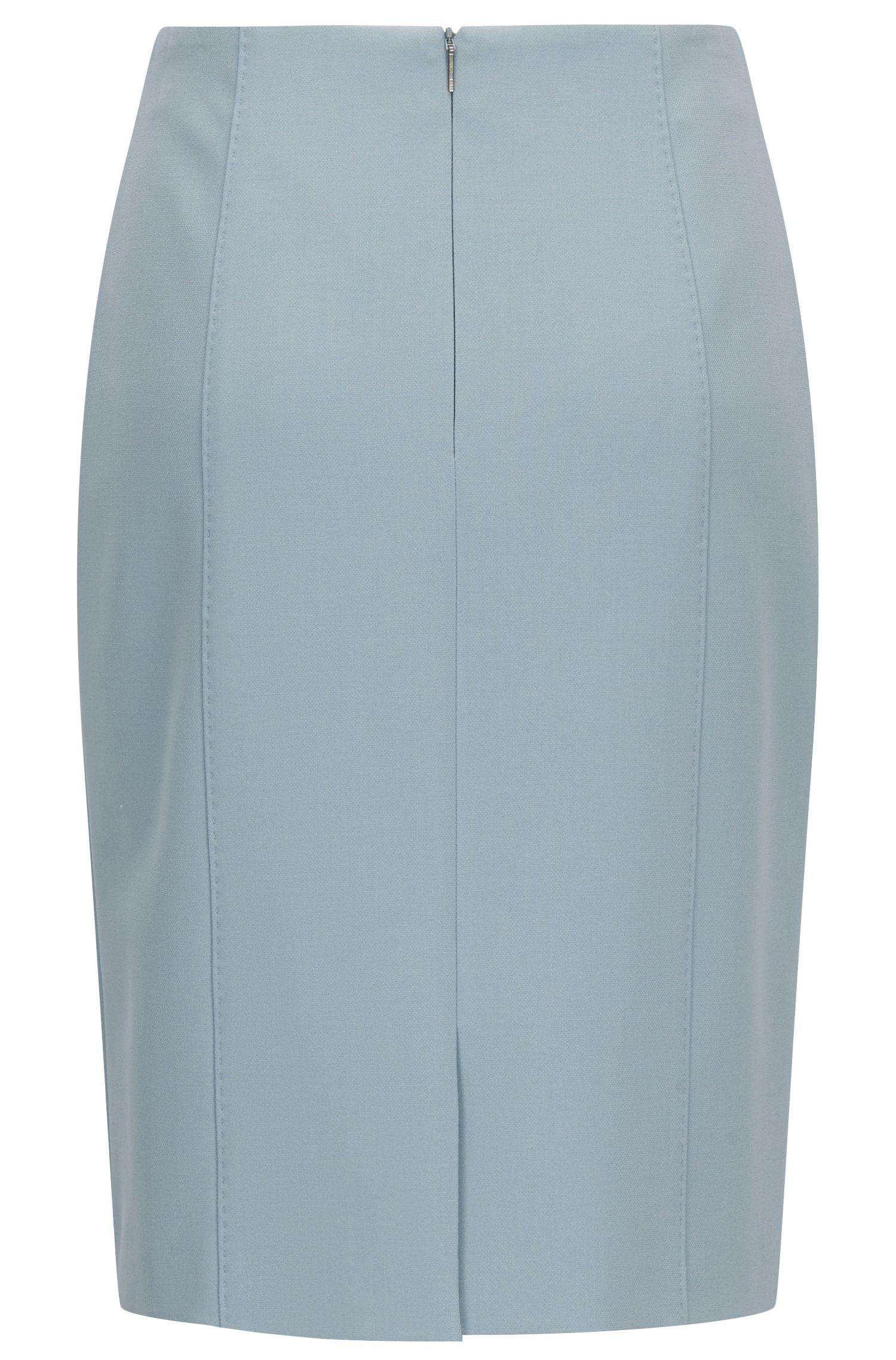Viscose Blend Pencil Skirt | Velafea