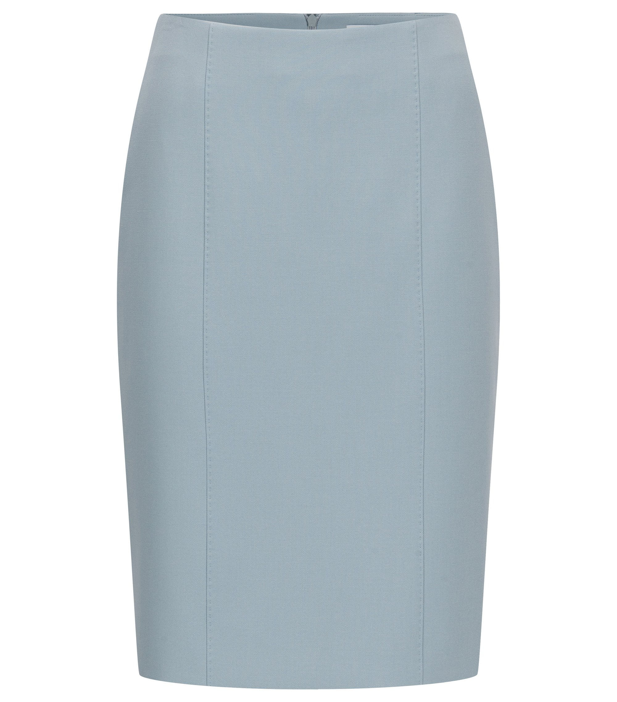 Viscose Blend Pencil Skirt | Velafea, Open Grey