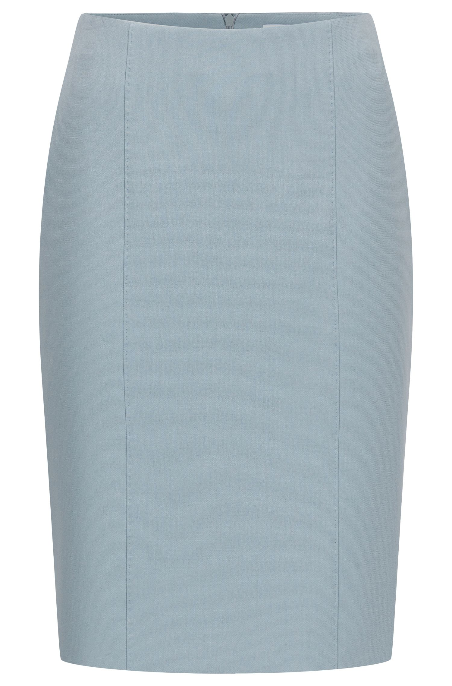 Viscose Blend Pencil Skirt | Velafea