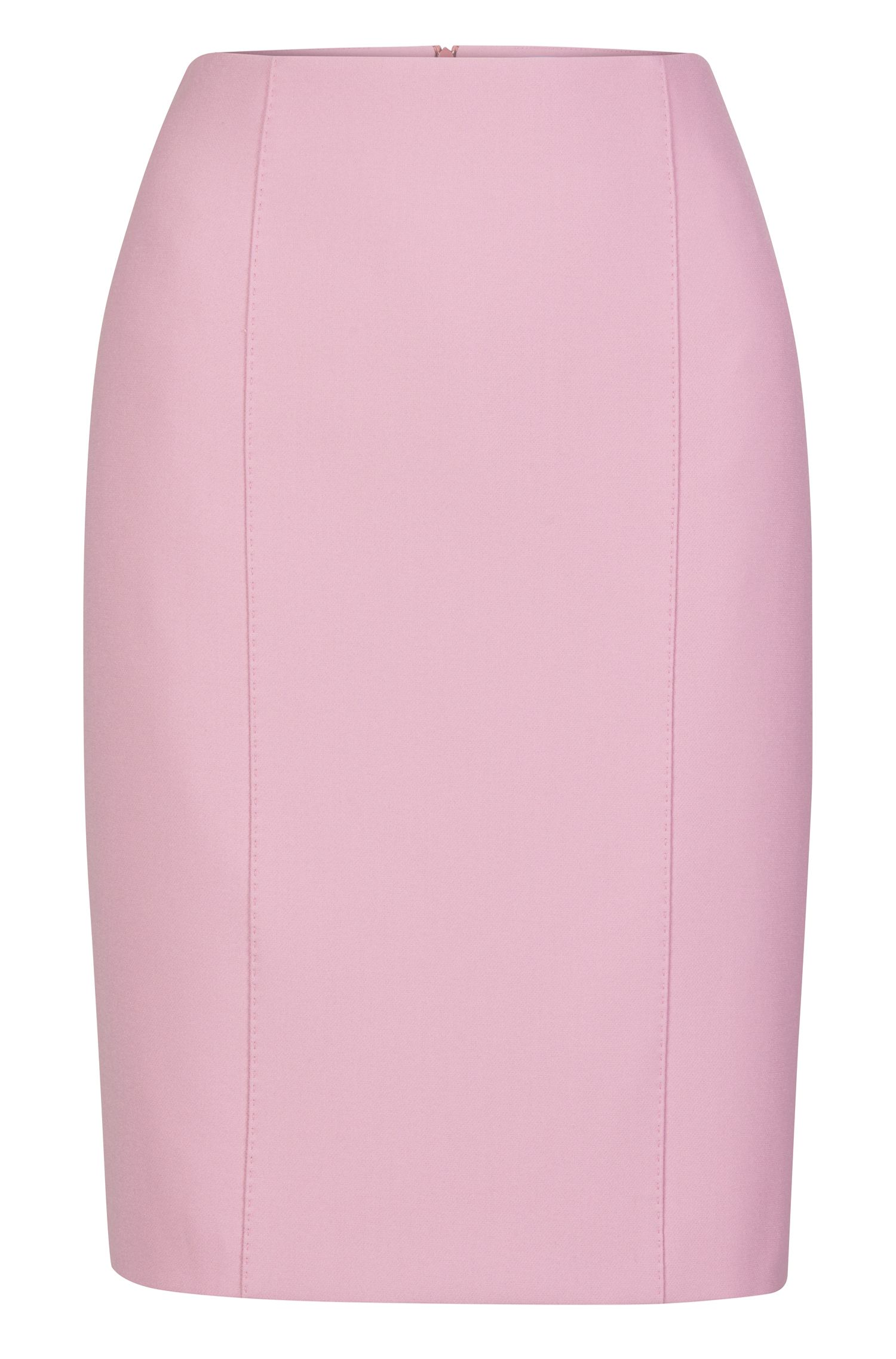 Viscose Blend Pencil Skirt | Velafea, Purple