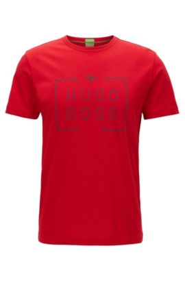 Cotton Graphic T-Shirt | Tee, Red