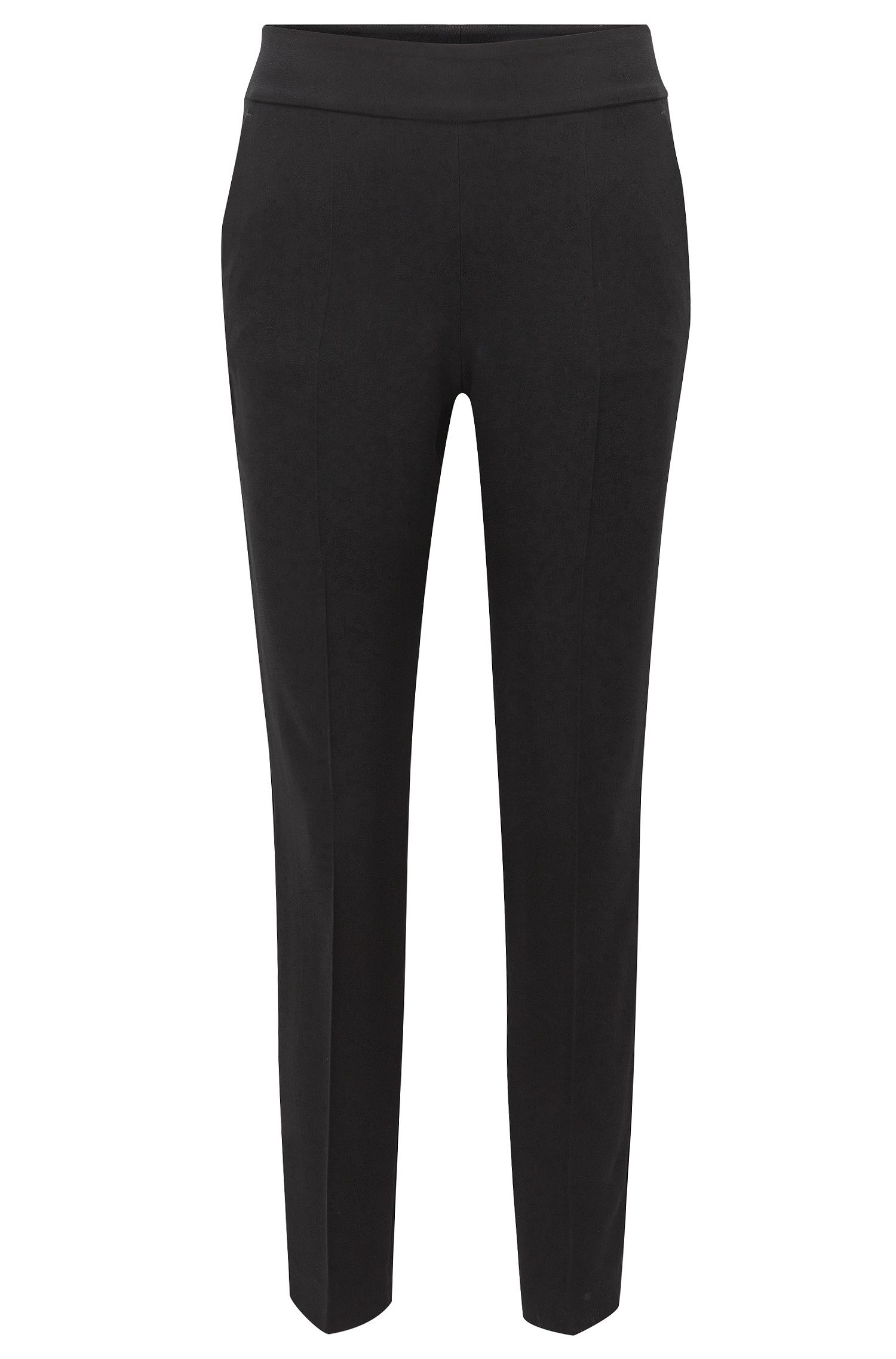 Stretch Viscose Cropped Tuxedo Pant | Tonalia