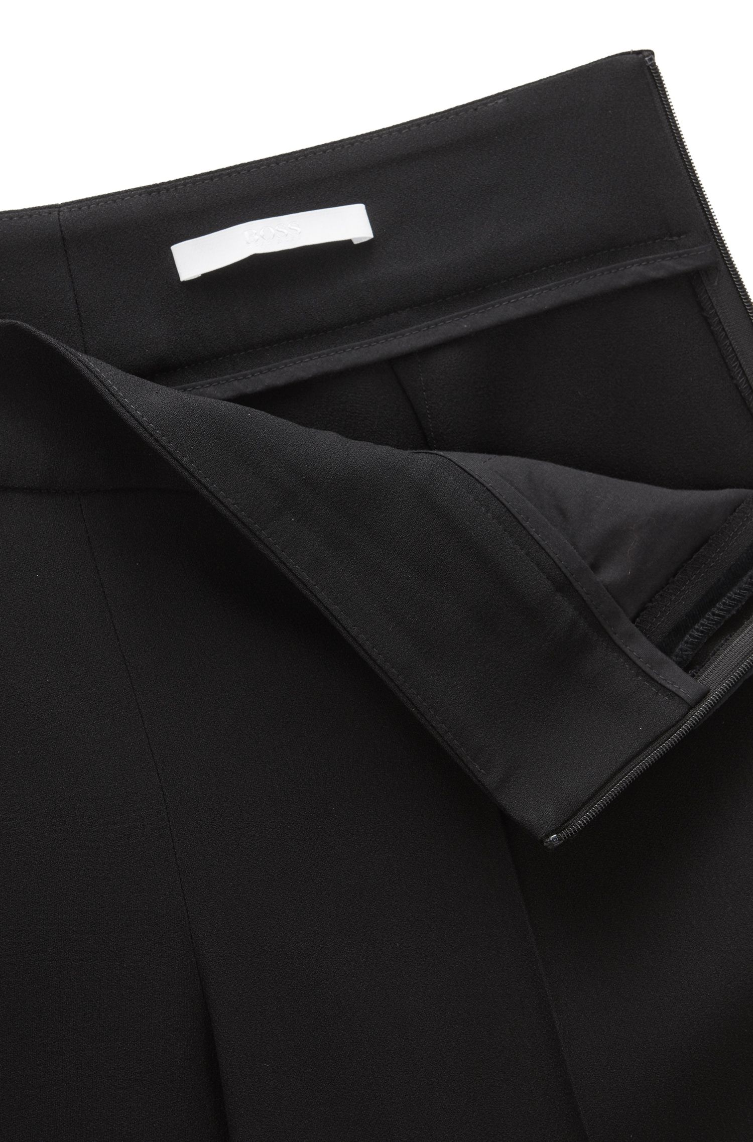 Stretch Viscose Cropped Tuxedo Pant | Tonalia