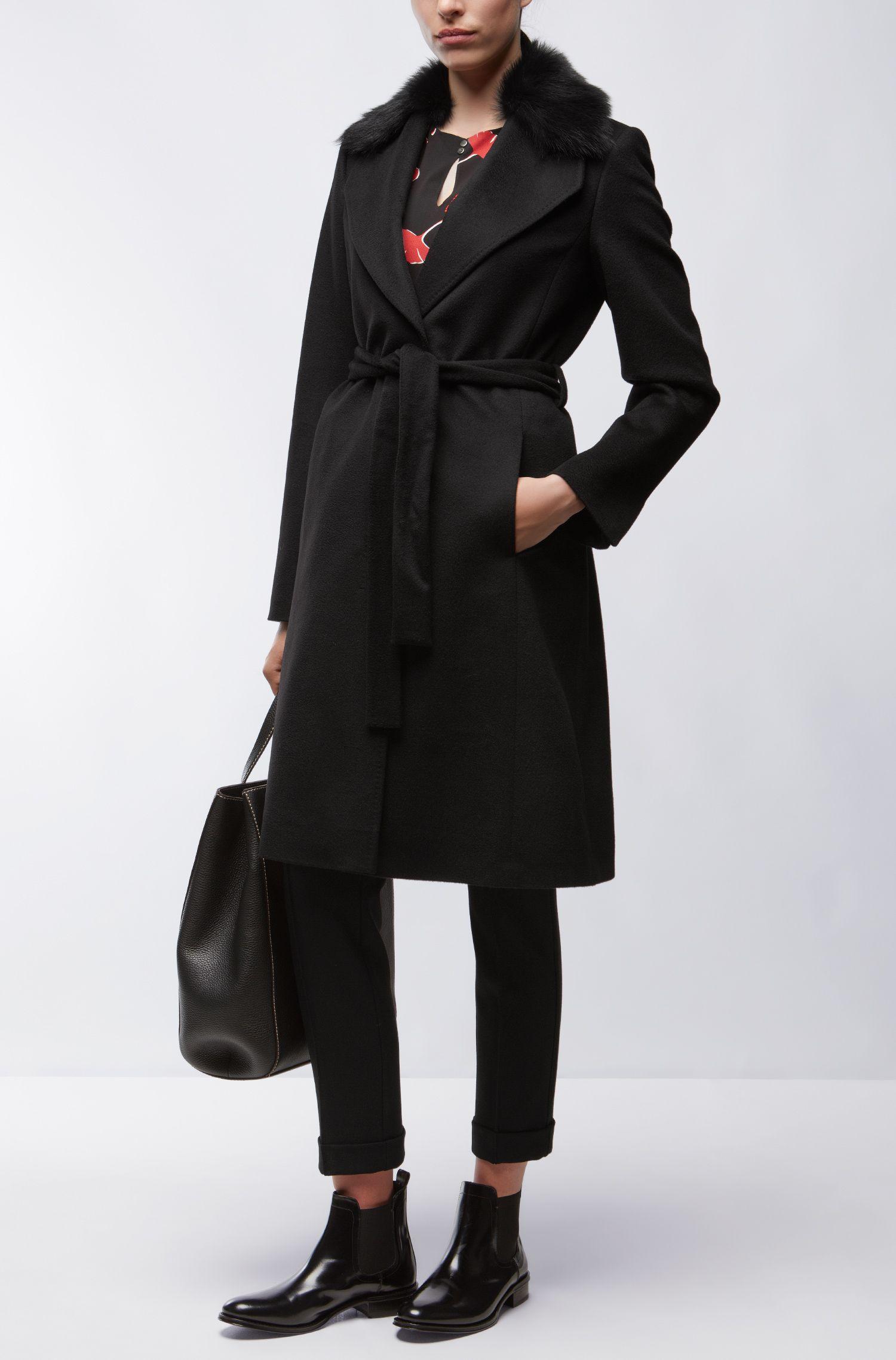 Virgin Wool Coat | Casala, Black