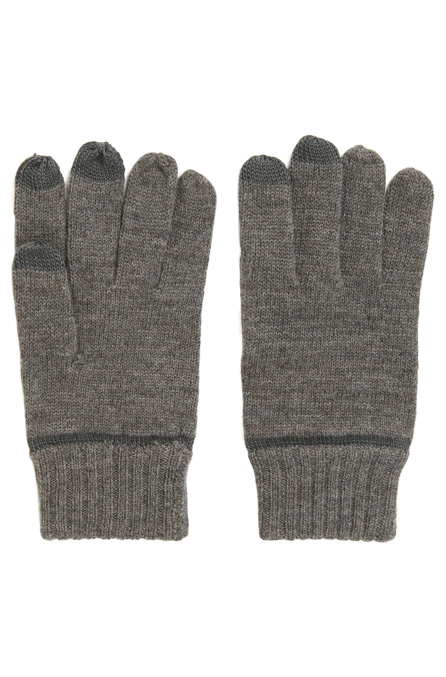 Virgin Wool Blend Tech Gloves | Graas