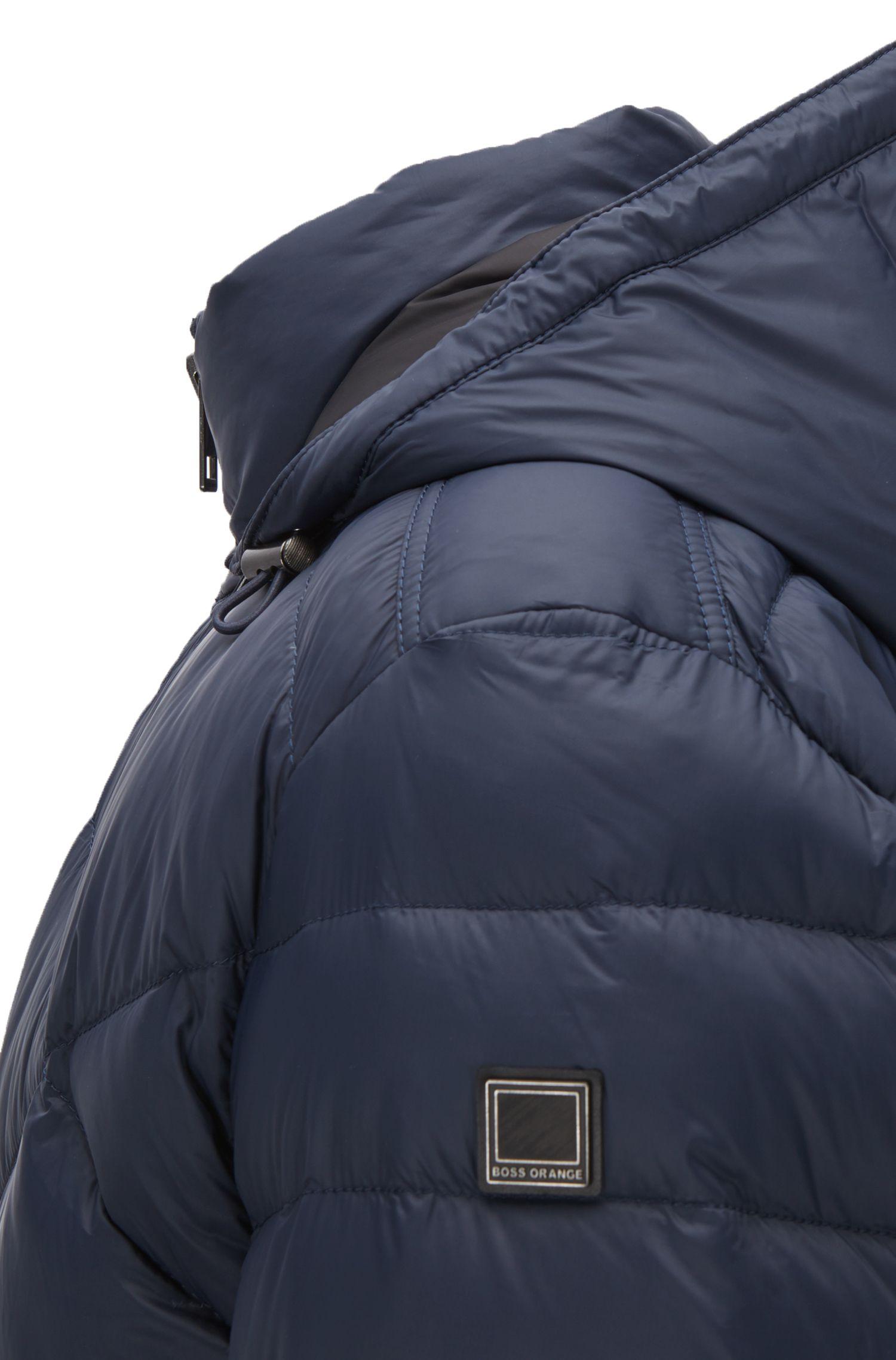 Quilted Down Jacket | Obaron, Dark Blue