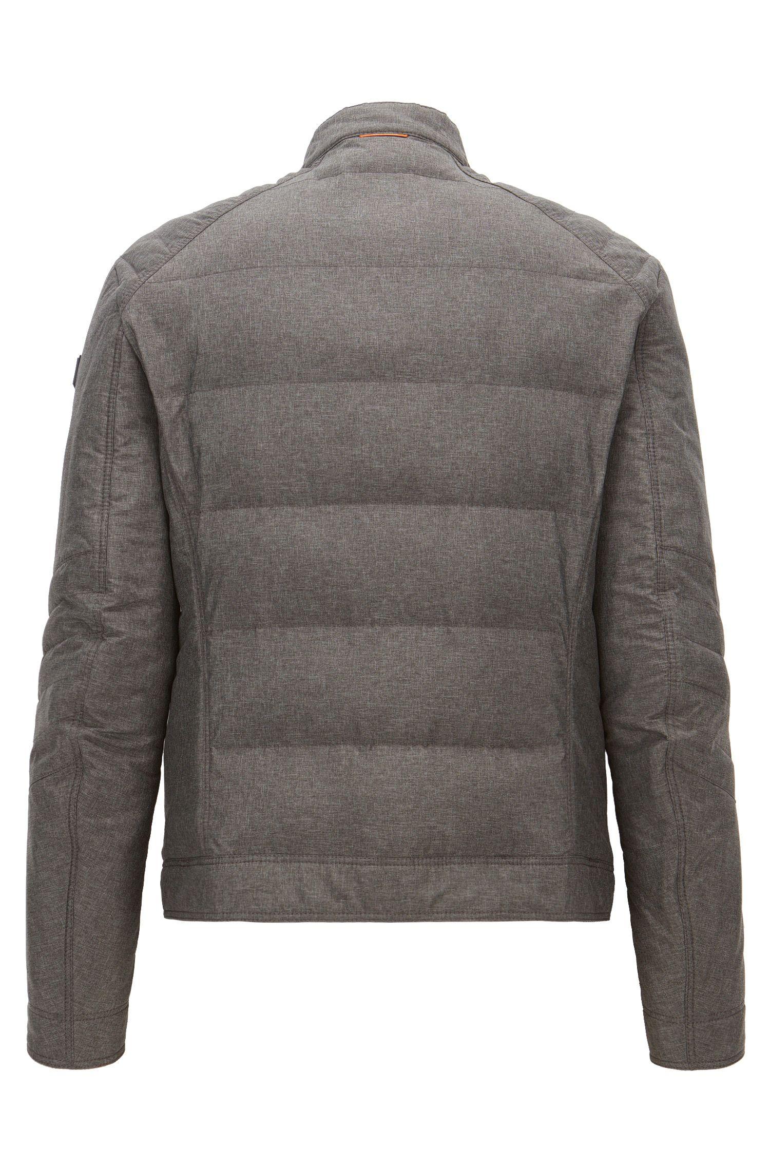 Stretch Quilted Biker Jacket | Oennis