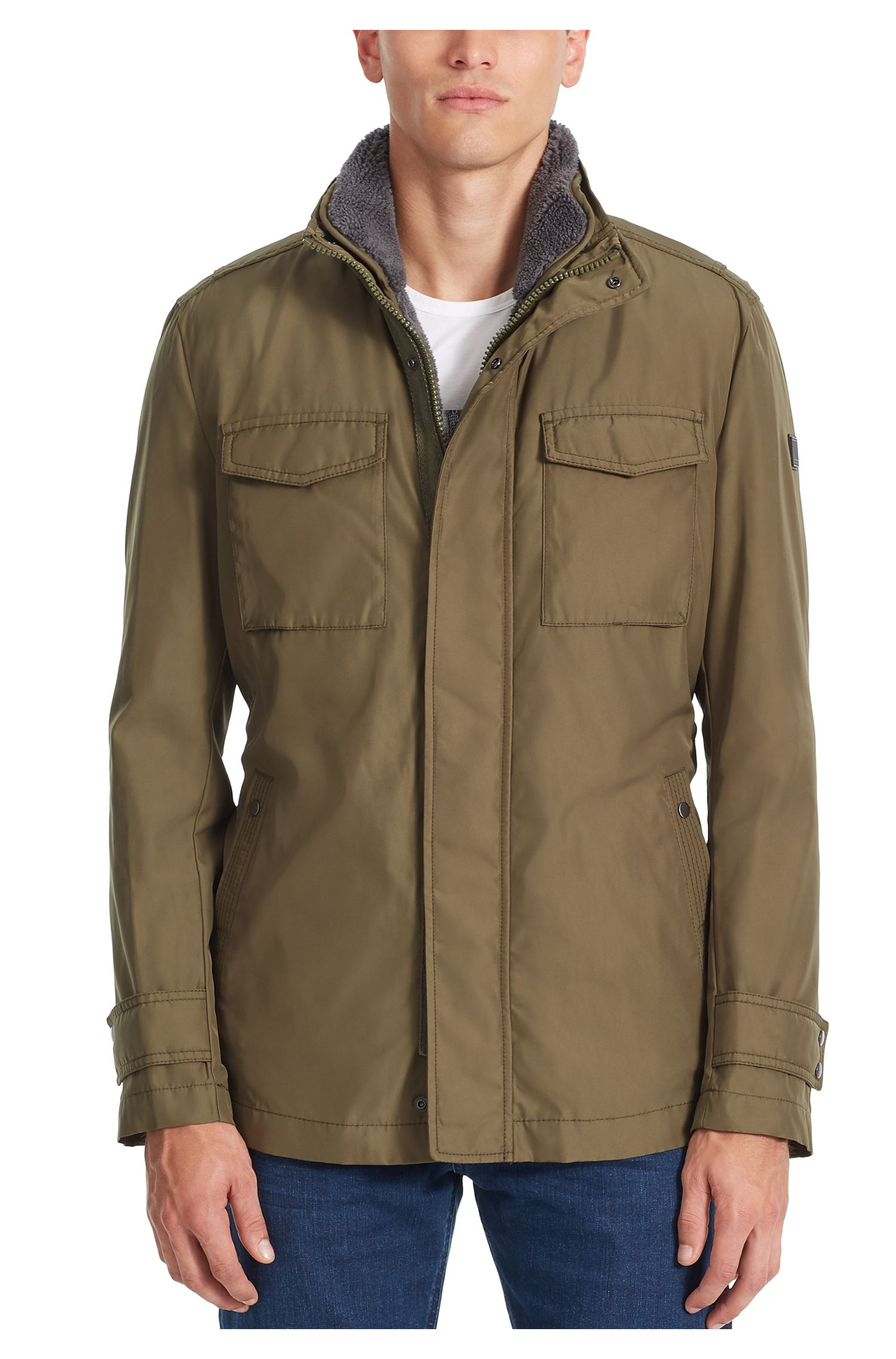 Water-Repellent Canvas Jacket | Onick, Dark Green