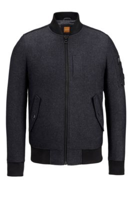 Twill Bomber Jacket | Orogue, Black
