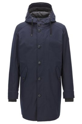 Water-Repellent Parka | Odrax, Dark Blue