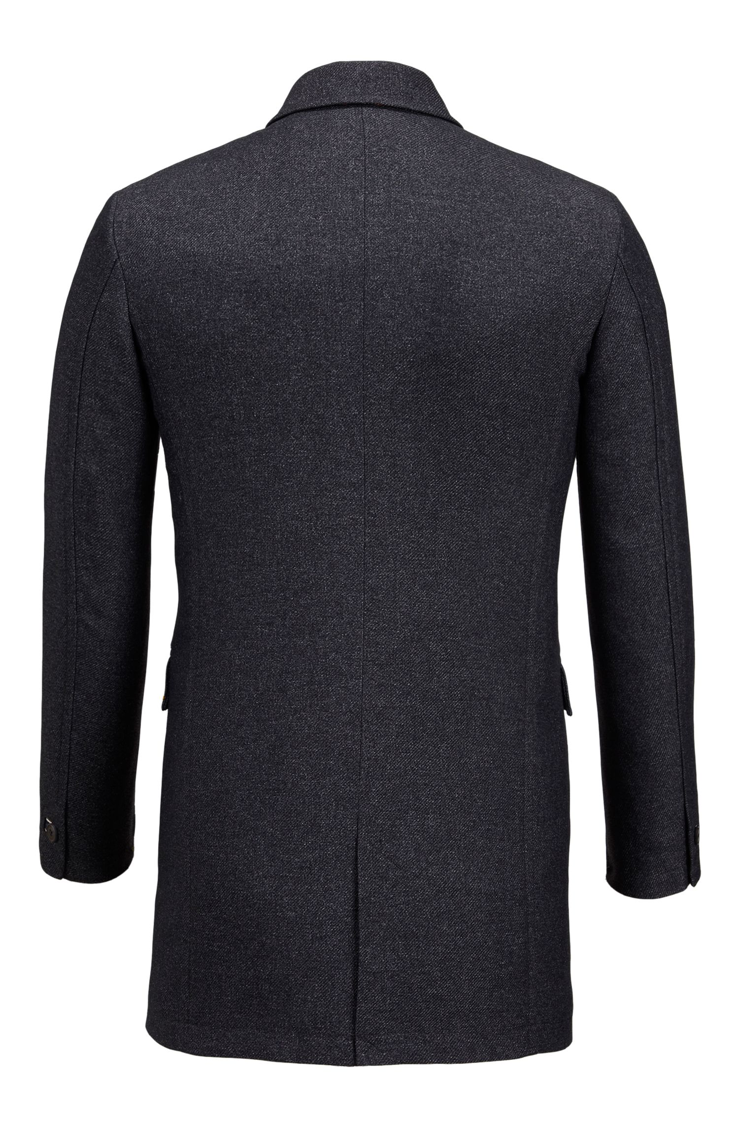 Water-Repellent Twill Coat | Barent , Black