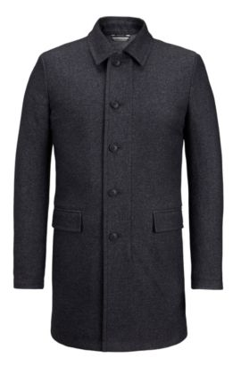 Water-Repellent Twill Coat | Barent , Black