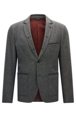 Italian Twill Sport Coat, Slim Fit | Bents, Light Grey