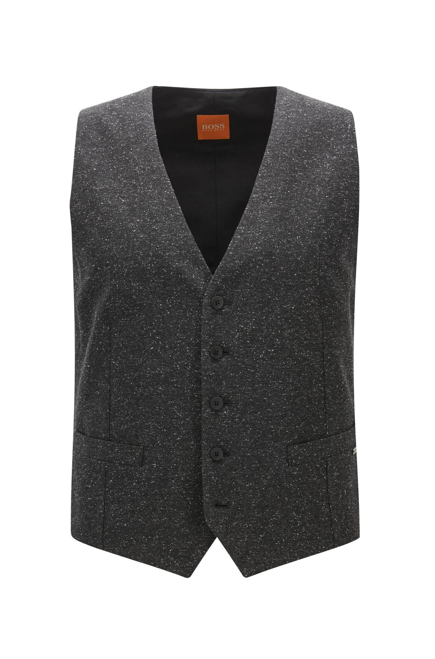 Wool Blend Waistcoat, Slim Fit | Bacer