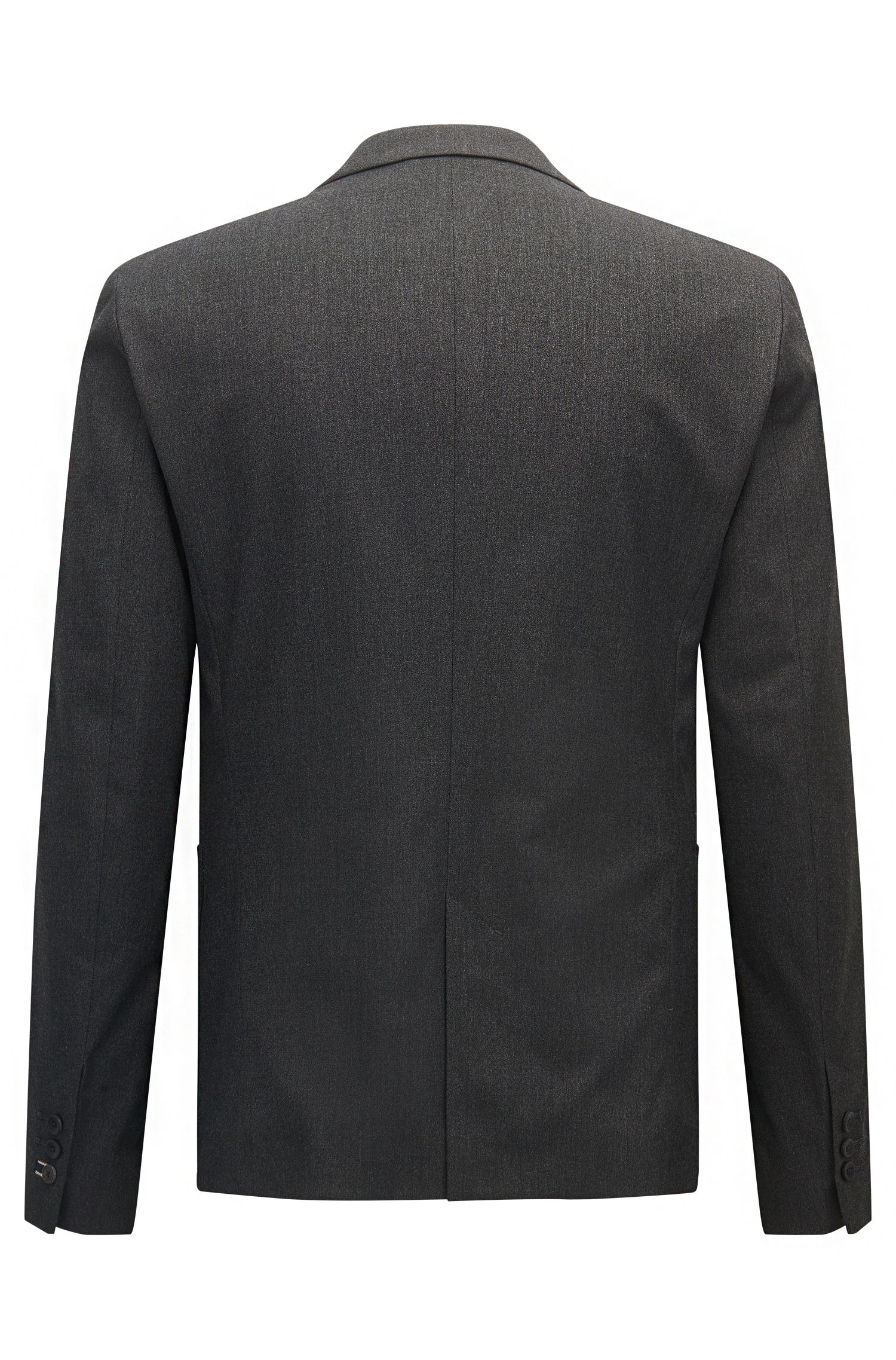 Brushed Heather Sport Coat, Slim Fit | Basko BS, Black
