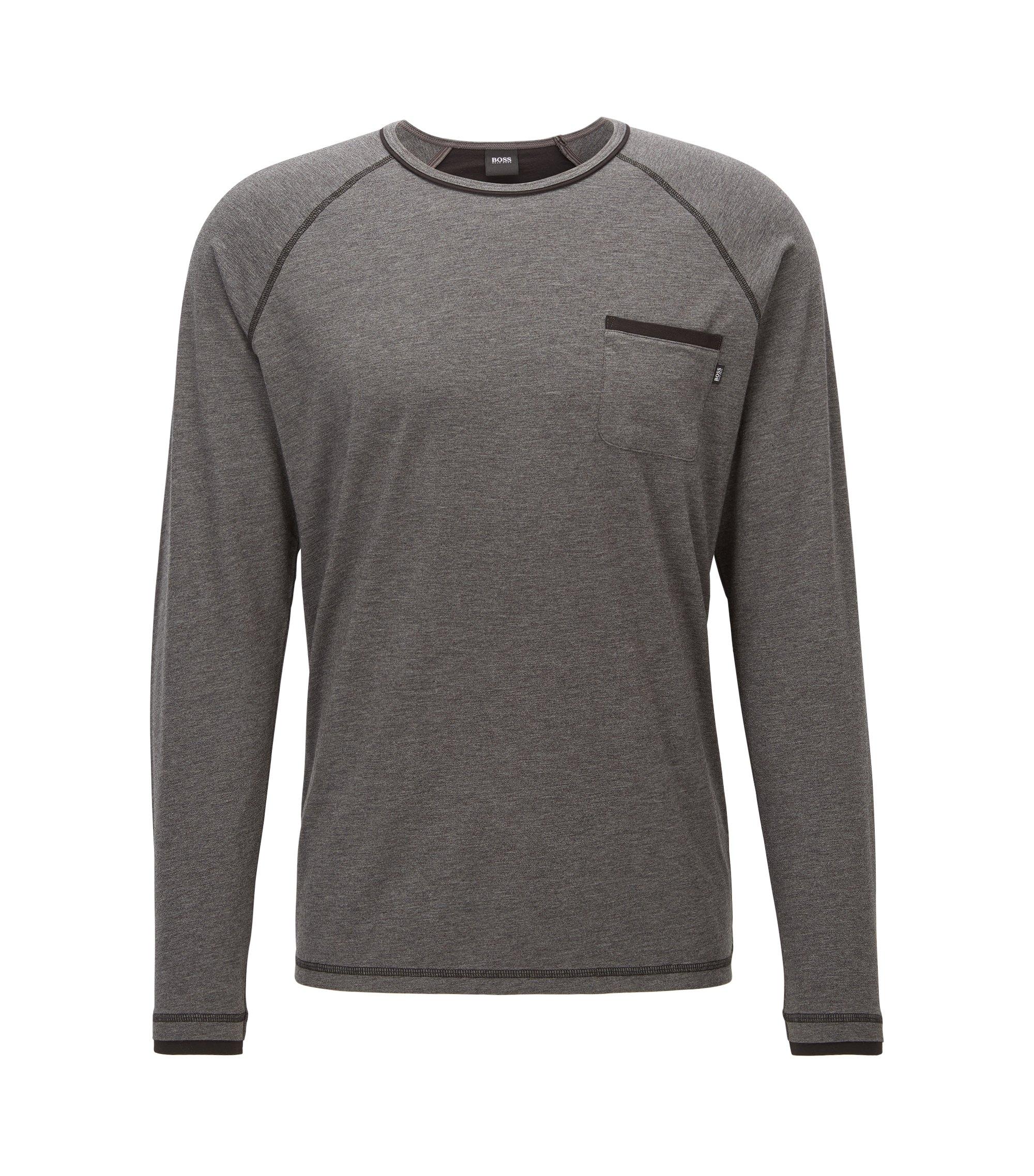 Stretch Cotton Jersey Shirt | LS Shirt RN, Charcoal