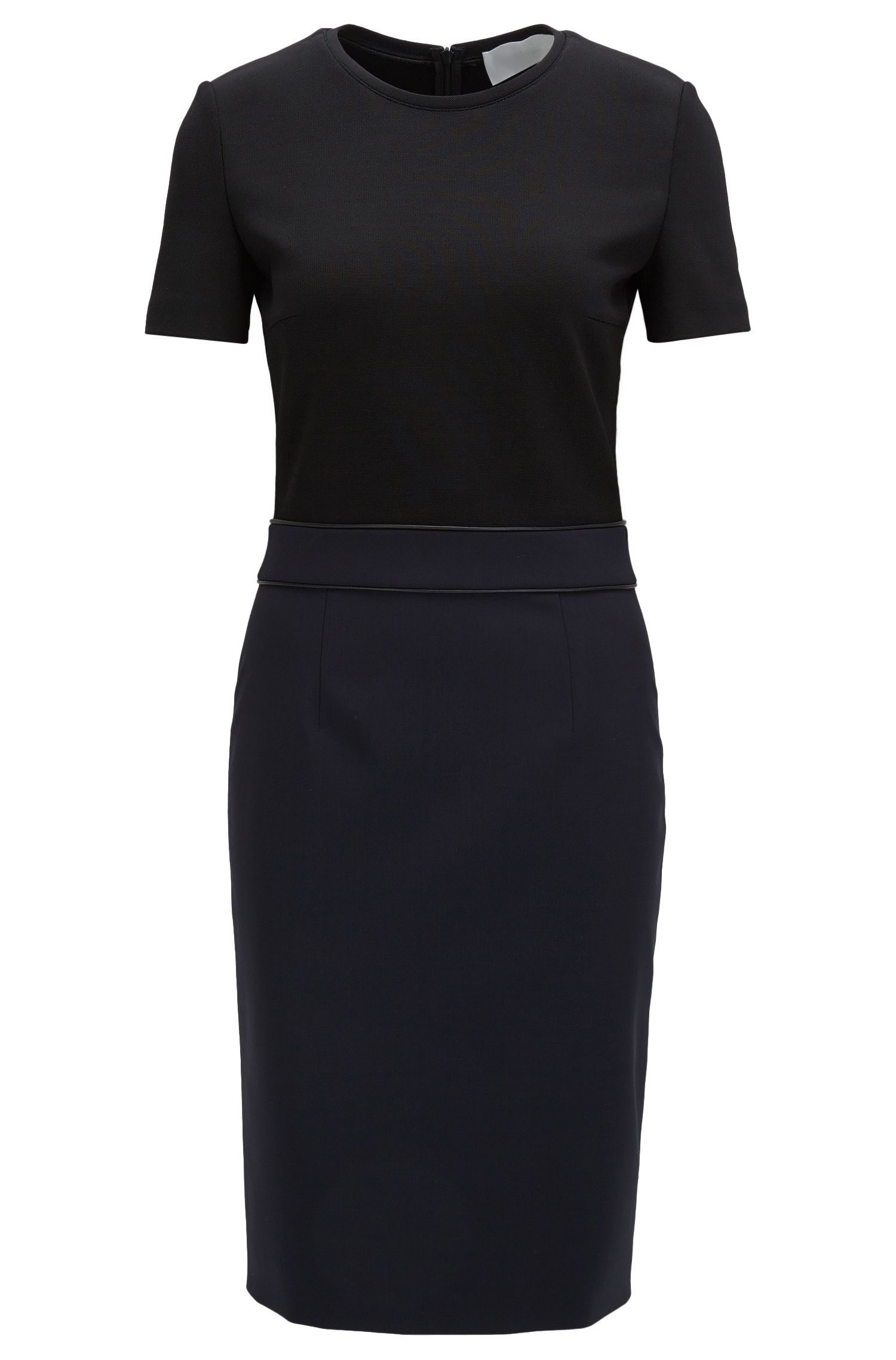 Stretch Virgin Wool Sheath Dress | Dualisa