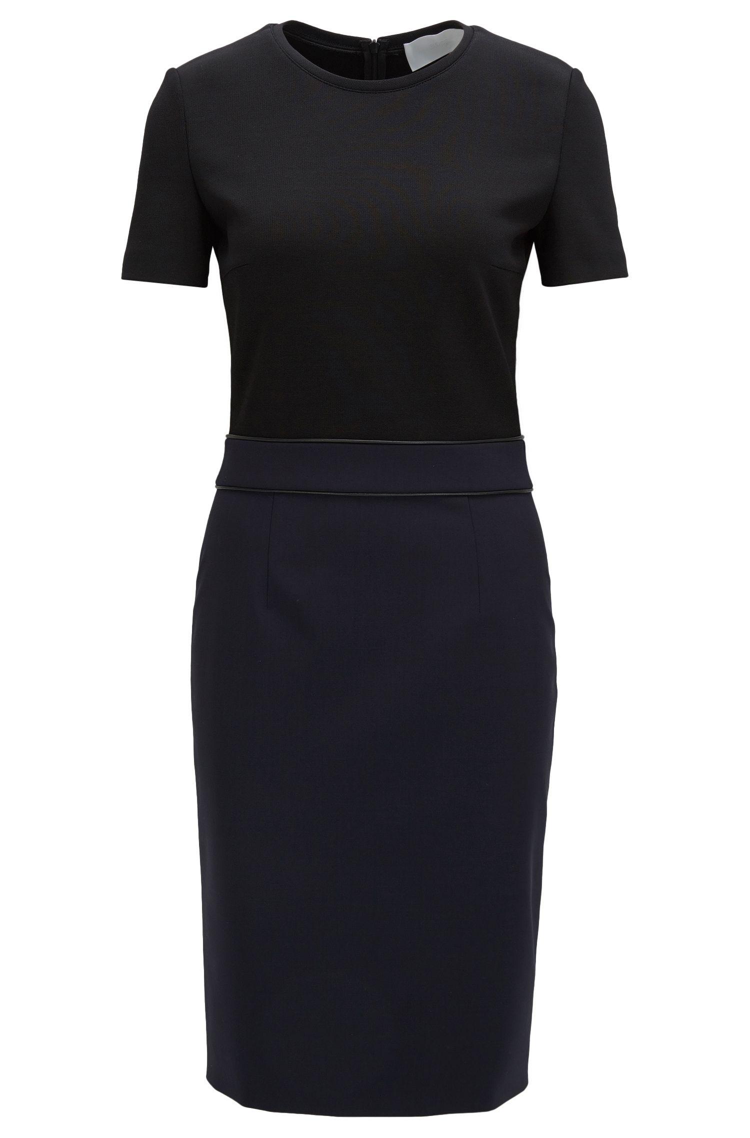 'Dualisa' | Stretch Virgin Wool Sheath Dress