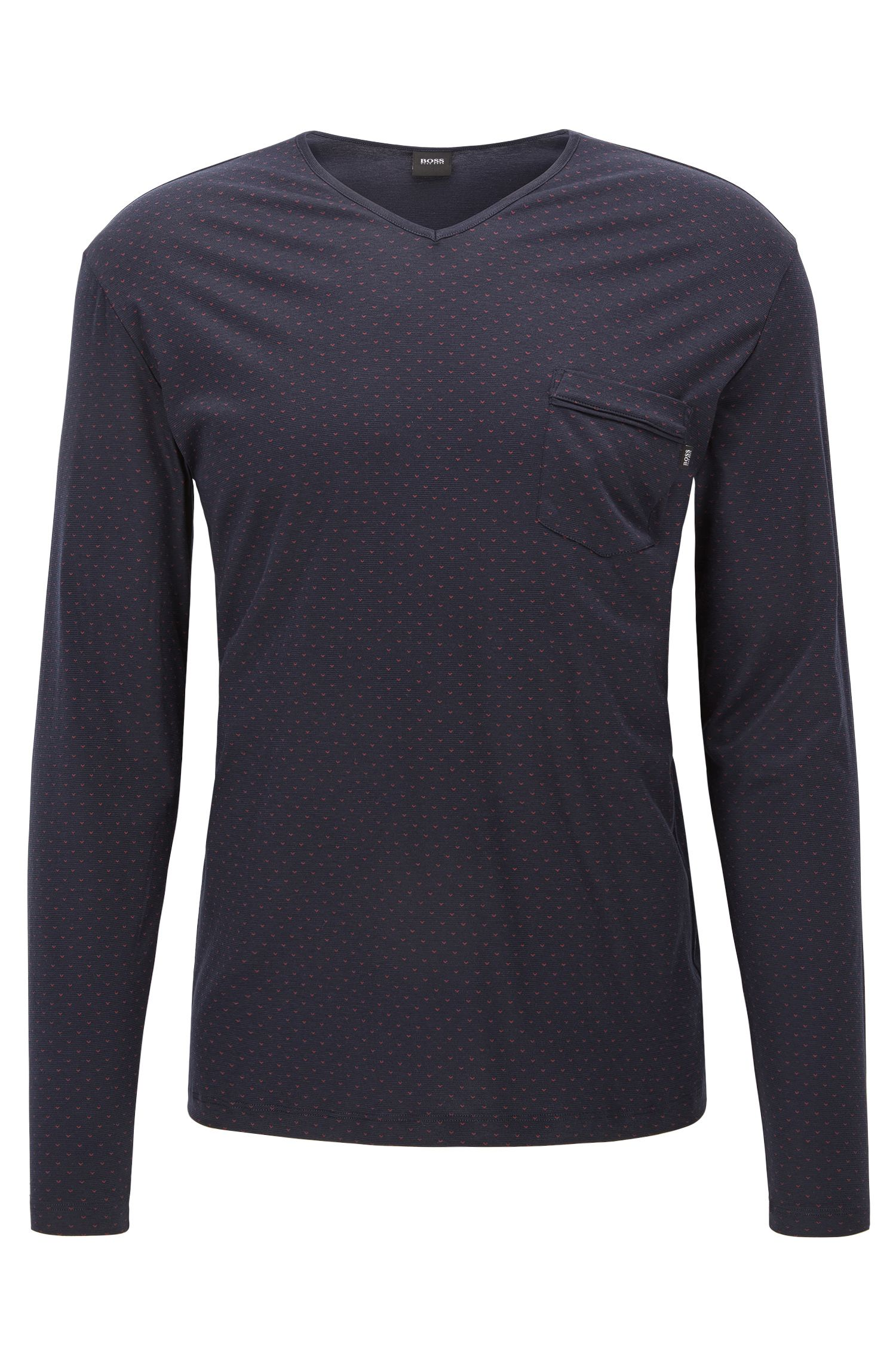 Geo-Print Stretch Jersey Long Sleeve T-Shirt | LS Shirt RN