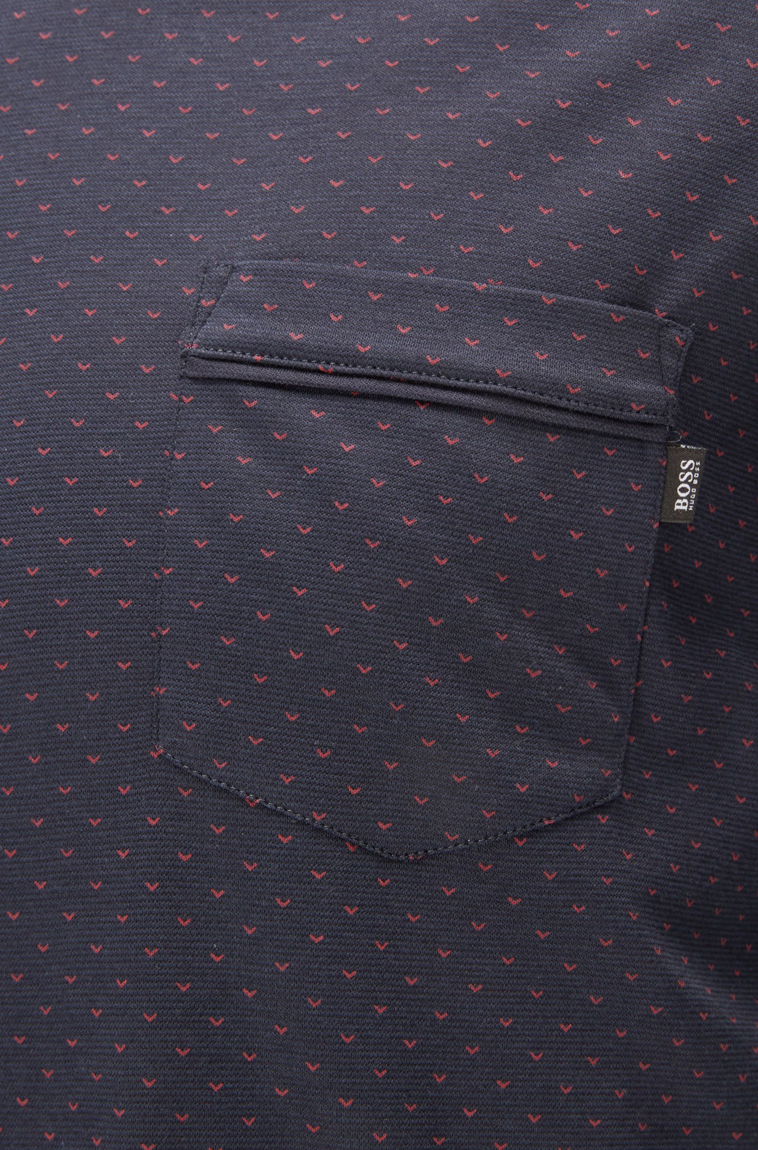 Geo-Print Stretch Jersey Long Sleeve T-Shirt | LS Shirt RN