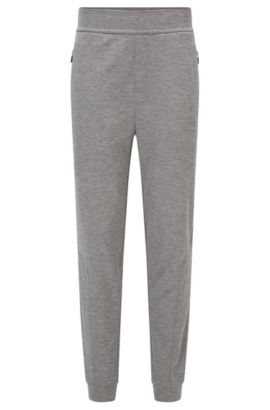 Stretch Cotton Lounge Pant | Long Pant Cuffs, Grey