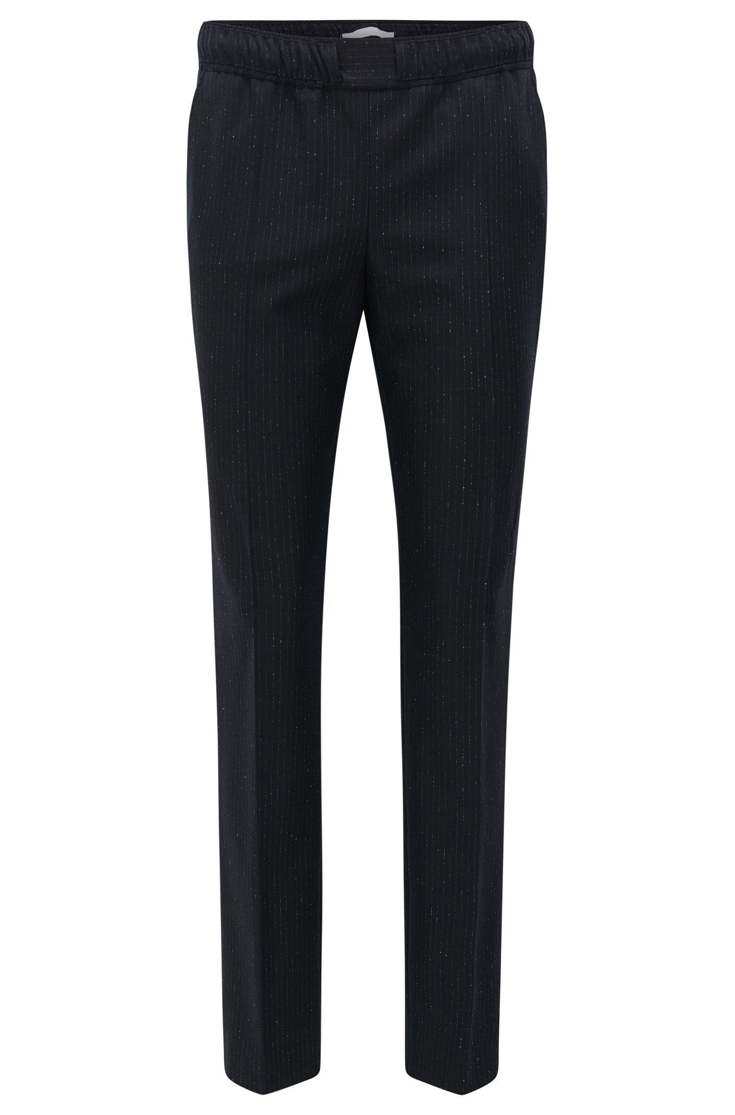 Pinstripe Stretch Virgin Wool Jogger Pant | Torana, Patterned
